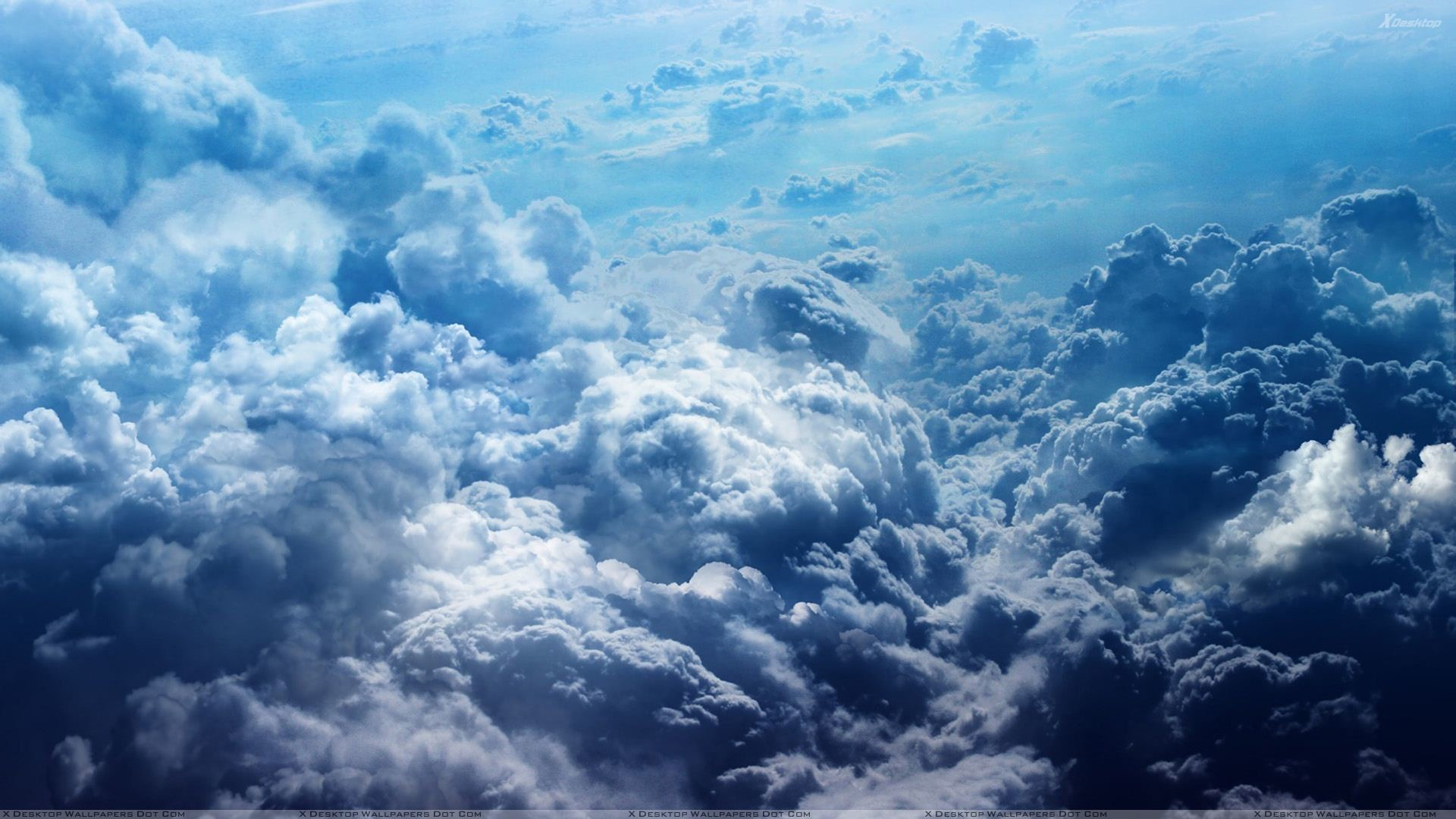 """You are viewing wallpaper titled """"Beautiful Scene Of Blue Clouds"""" …"""