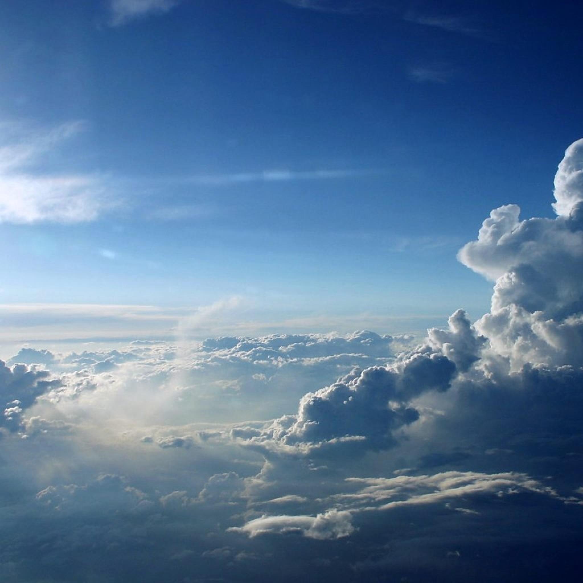 Beautiful blue clouds wallpaper