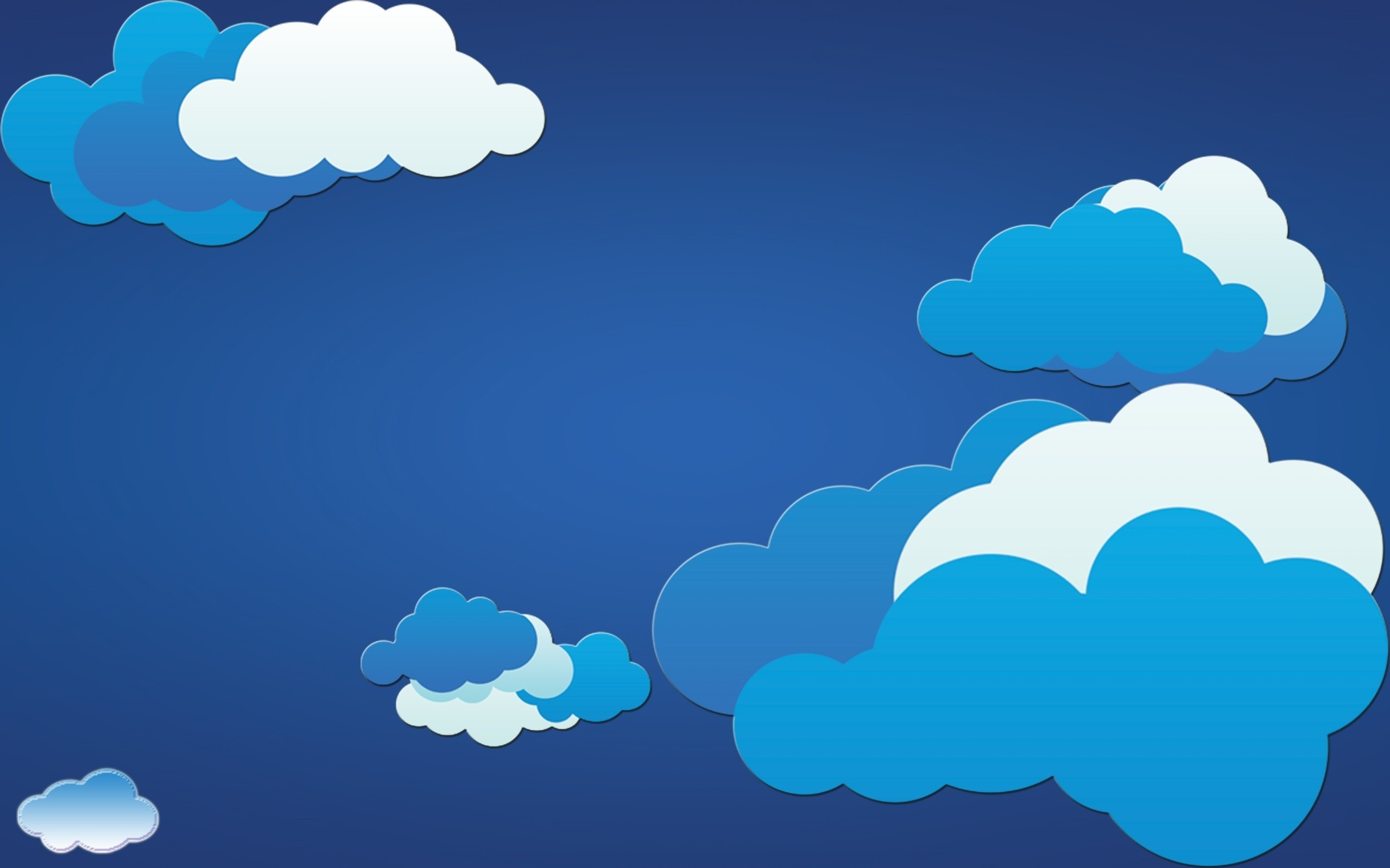 Vector Clouds Wallpaper Background 1472