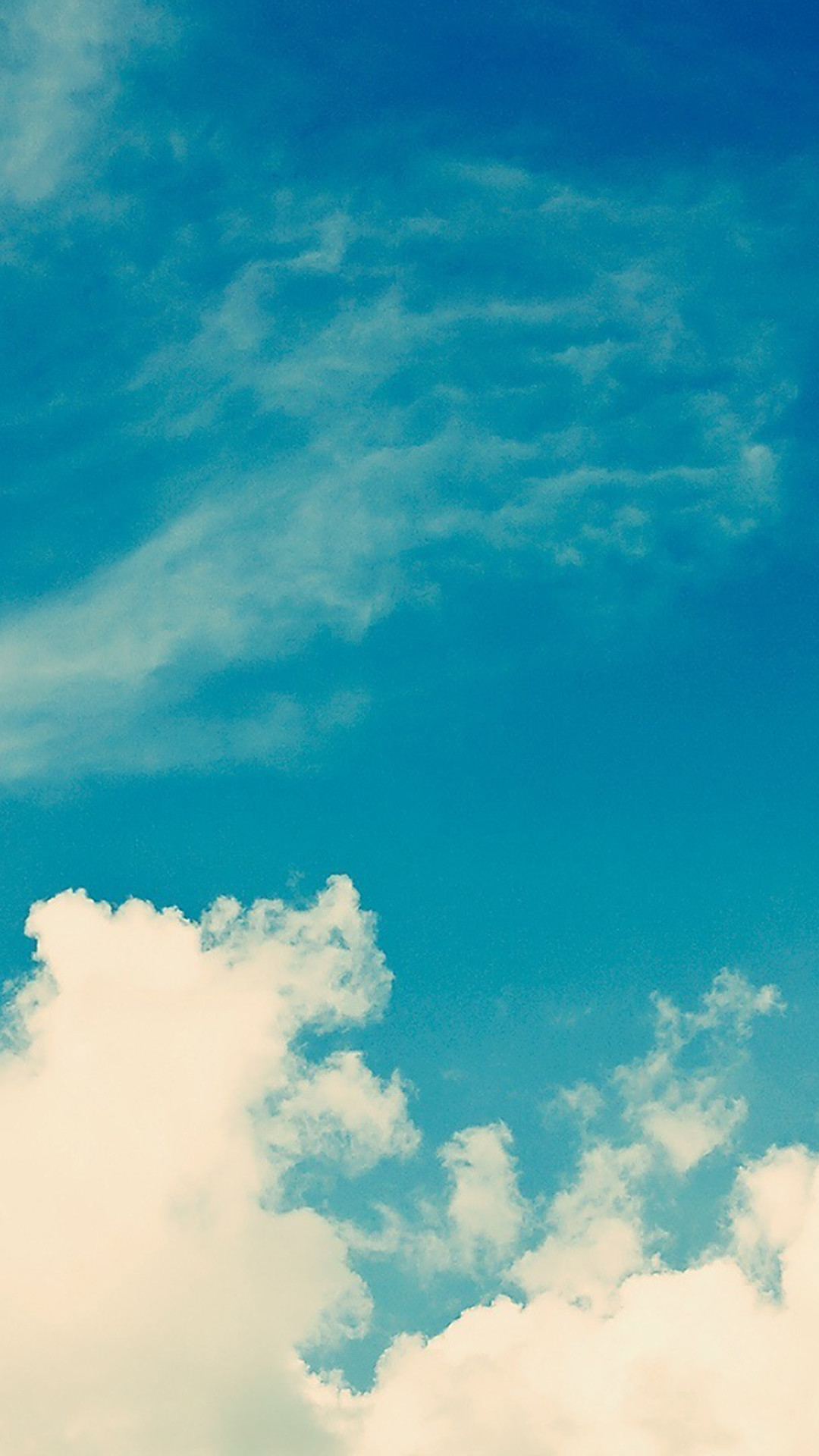 White Vintage Clouds Blu Sky iPhone 6 Plus HD Wallpaper