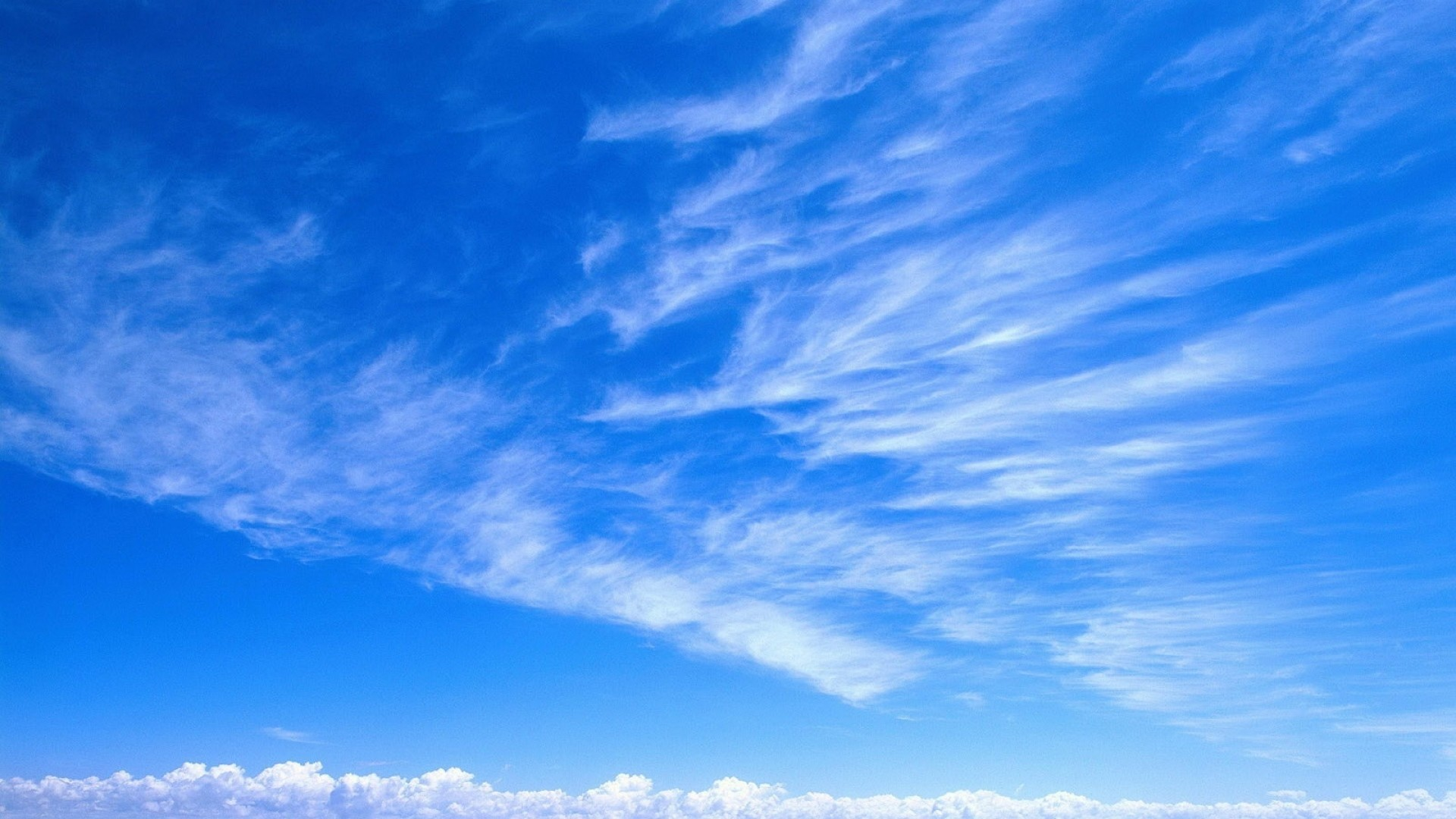 Wallpaper sky, blue, white, clouds, tenderness