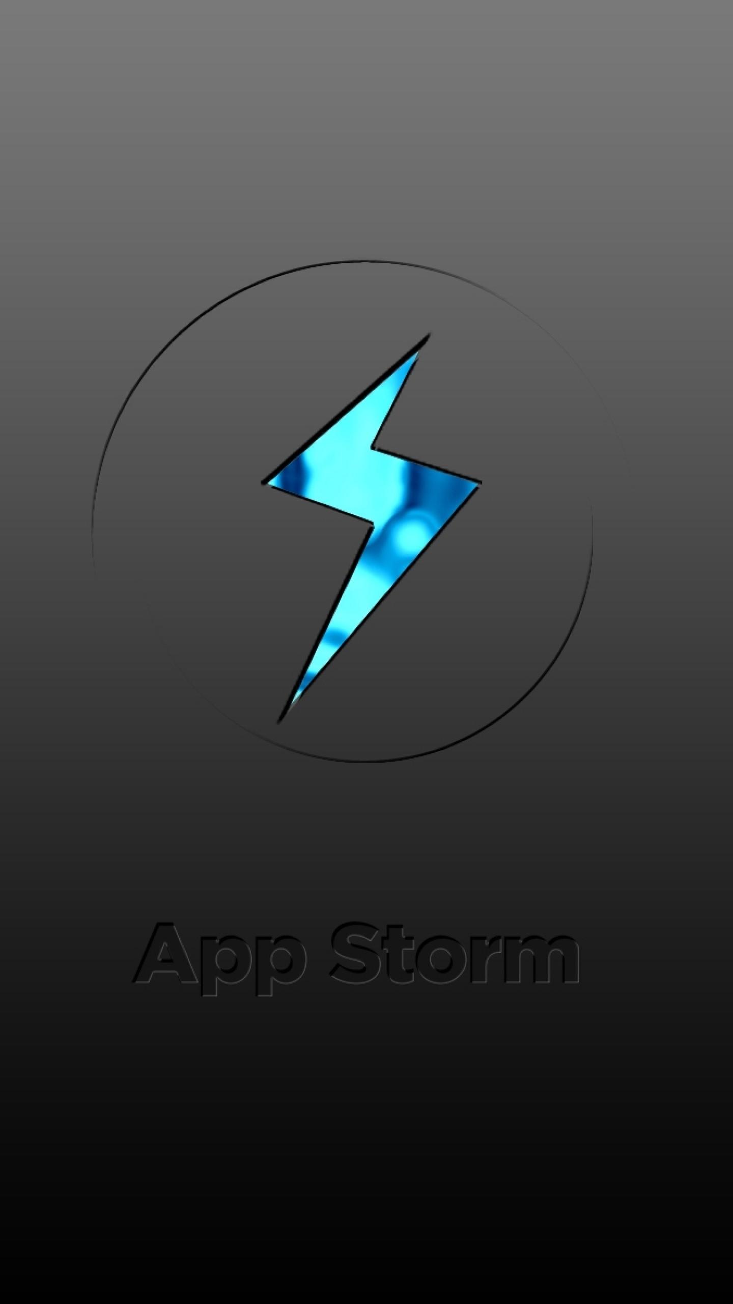 Wallpaper app storm, apple, mac, grey, sign, blue