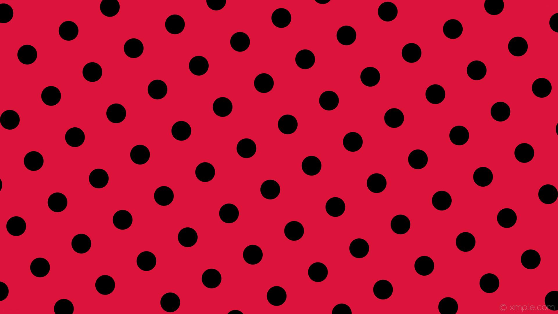 wallpaper red polka dots black spots crimson #dc143c #000000 30° 68px 164px
