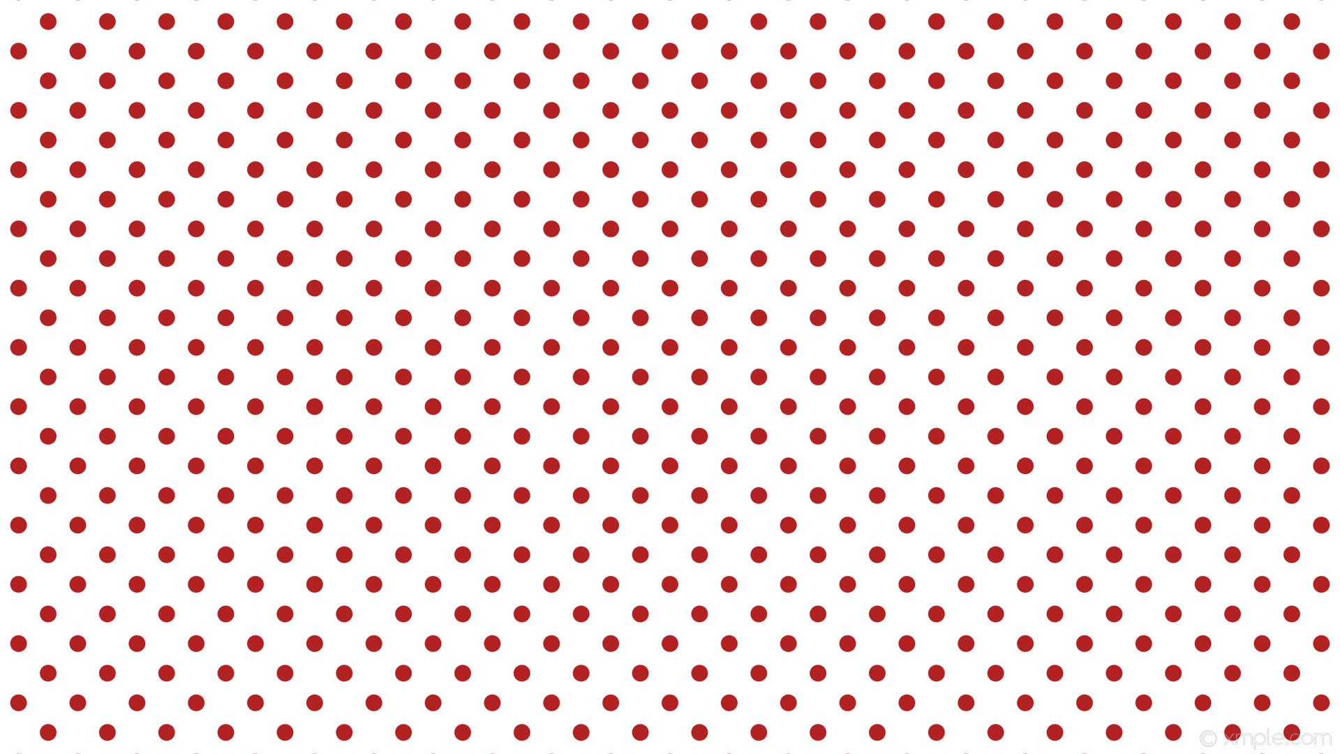 wallpaper white red dots spots polka fire brick #ffffff #b22222 45° 24px  60px