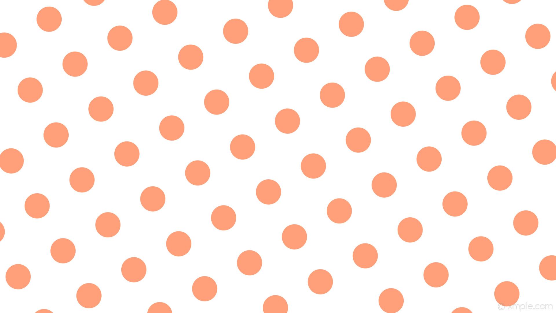 wallpaper white polka dots red spots light salmon #ffffff #ffa07a 210° 87px  179px