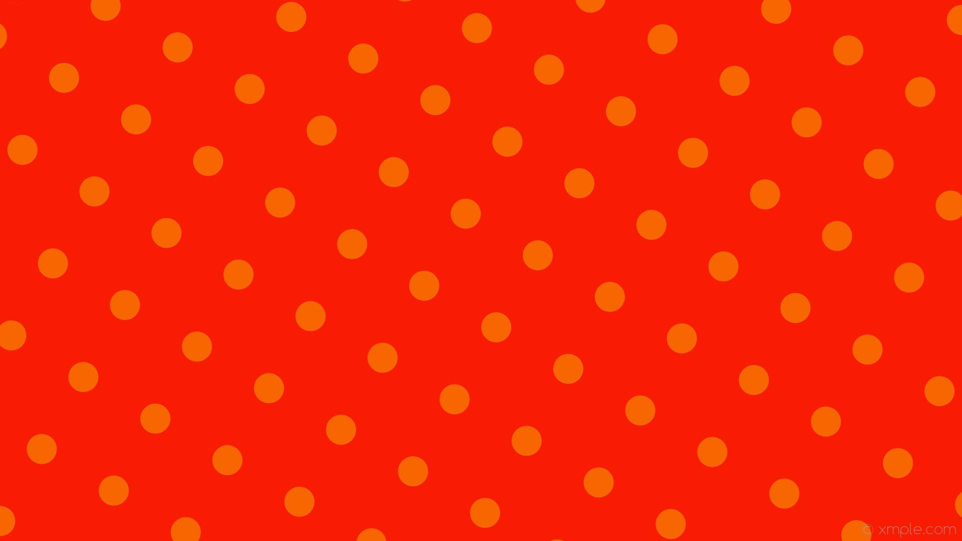 wallpaper orange polka dots spots red #f81c02 #f86602 150° 60px 166px