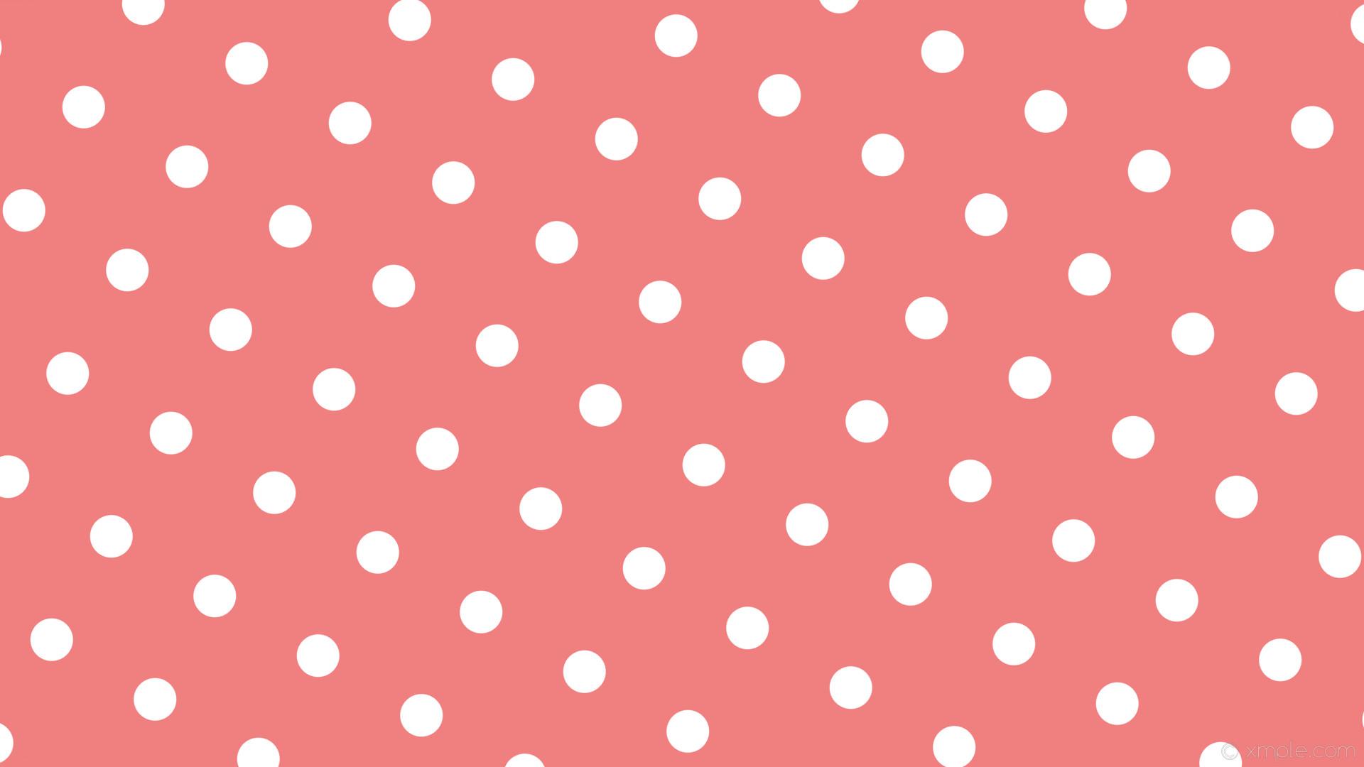 wallpaper white spots red polka dots light coral #f08080 #ffffff 150° 60px  168px