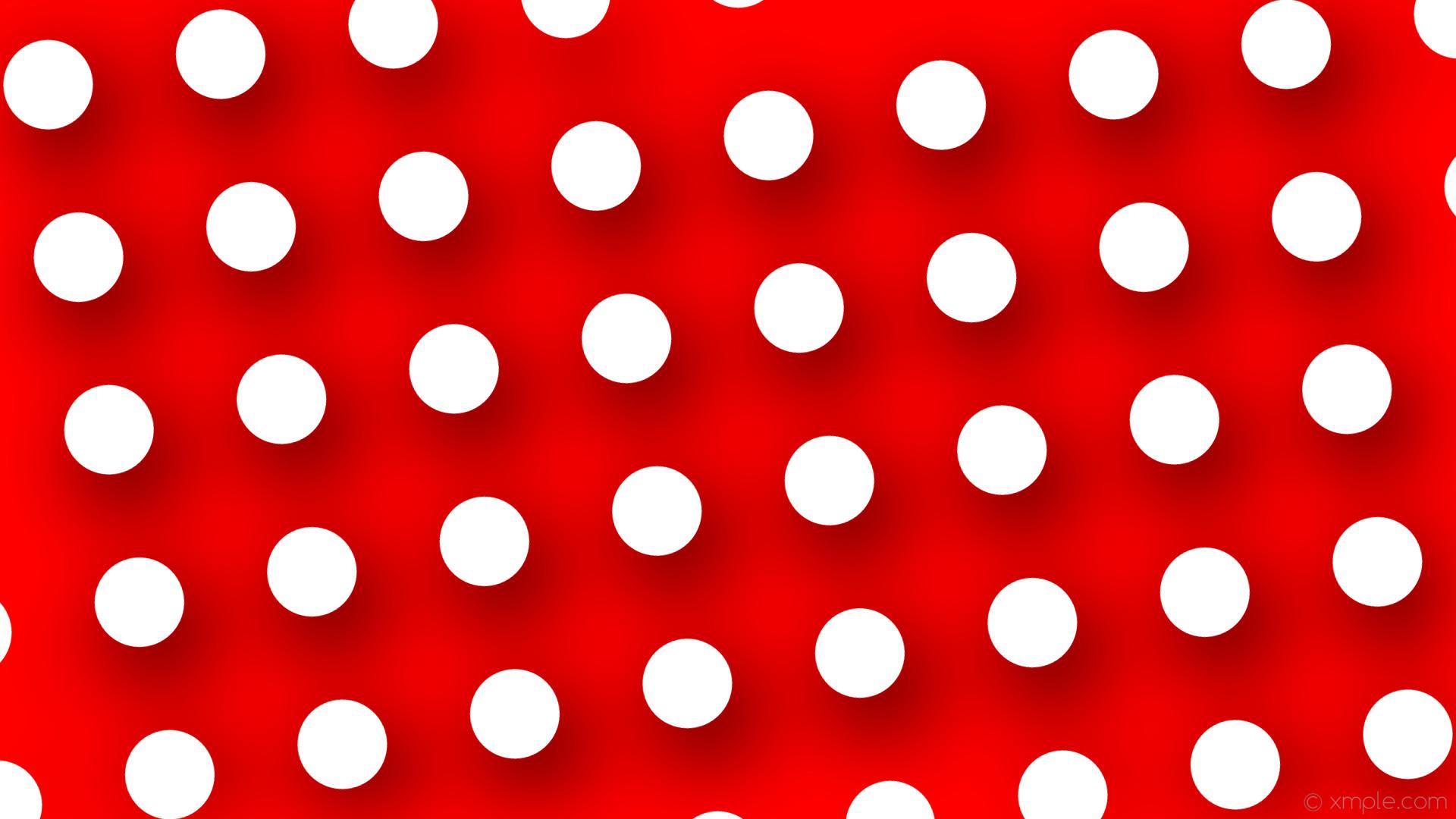 Wallpaper red white dots drop shadow polka #ff0000 #ffffff .