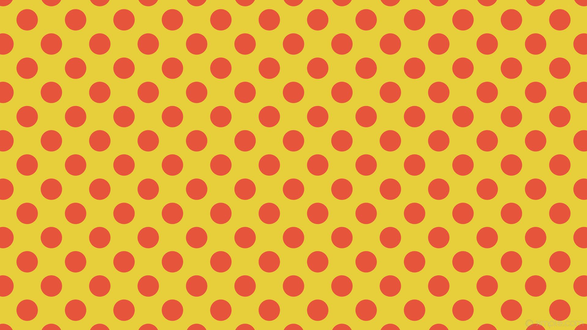 wallpaper yellow red polka spots dots #e7cf3c #e7543c 45° 70px 112px