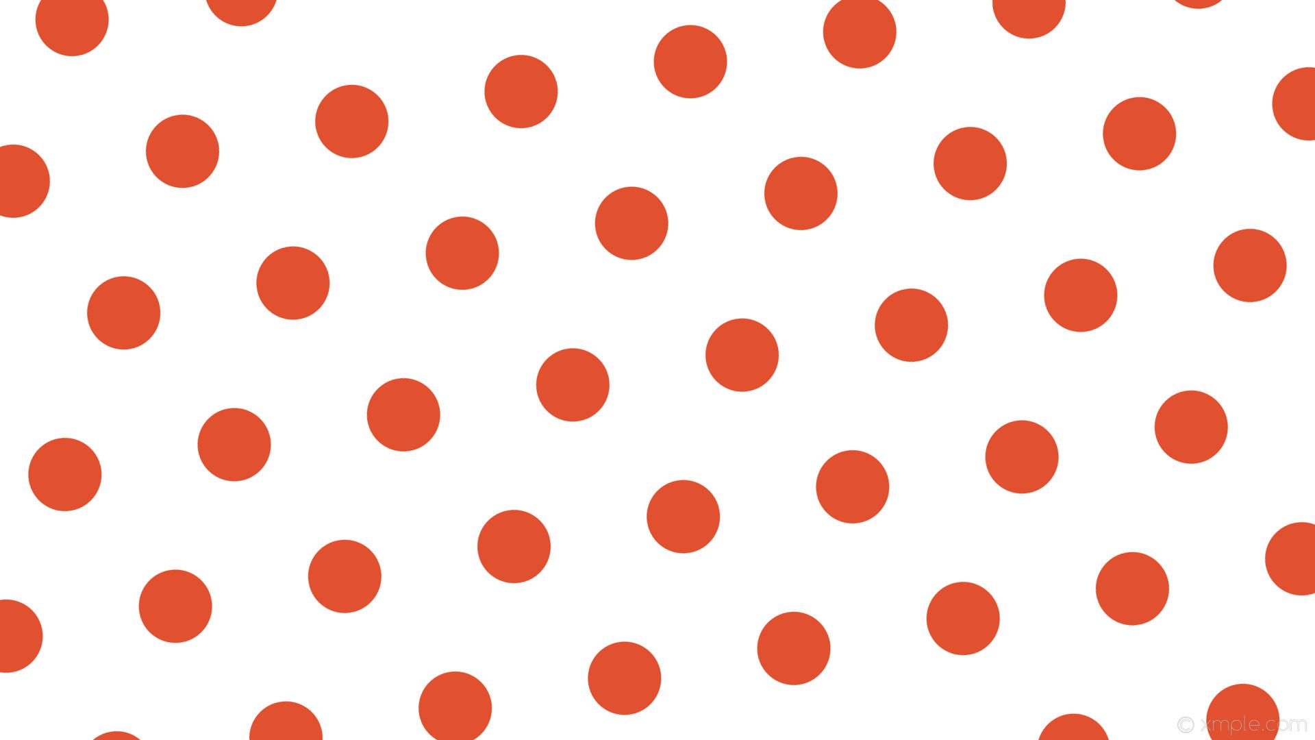 wallpaper white polka dots red hexagon #ffffff #e1512f diagonal 10° 107px  251px