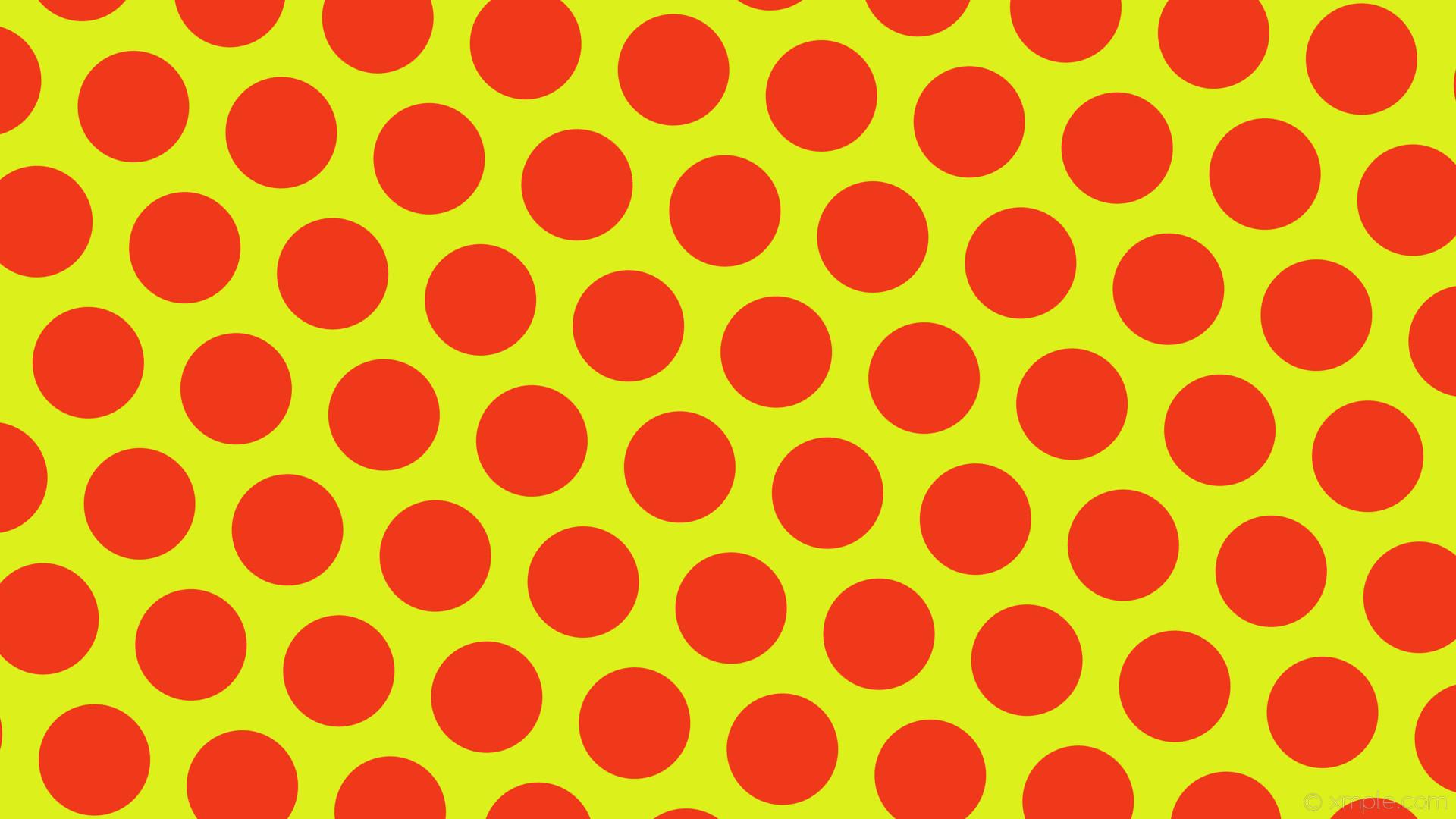 wallpaper red polka dots yellow hexagon #dcf01b #f0381b diagonal 50° 147px  198px