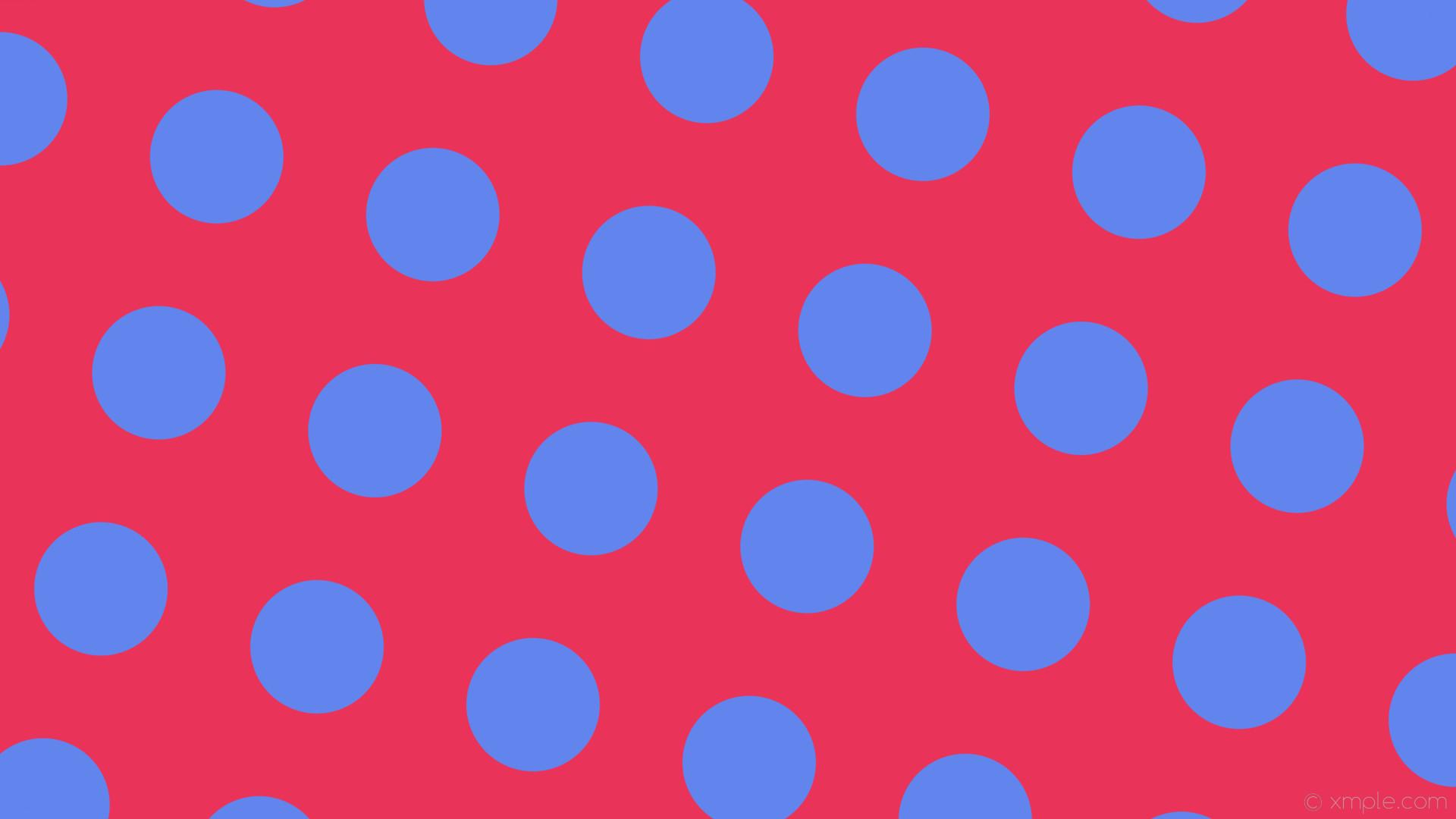 wallpaper spots red polka dots blue #ea3358 #6284ed 345° 176px 295px