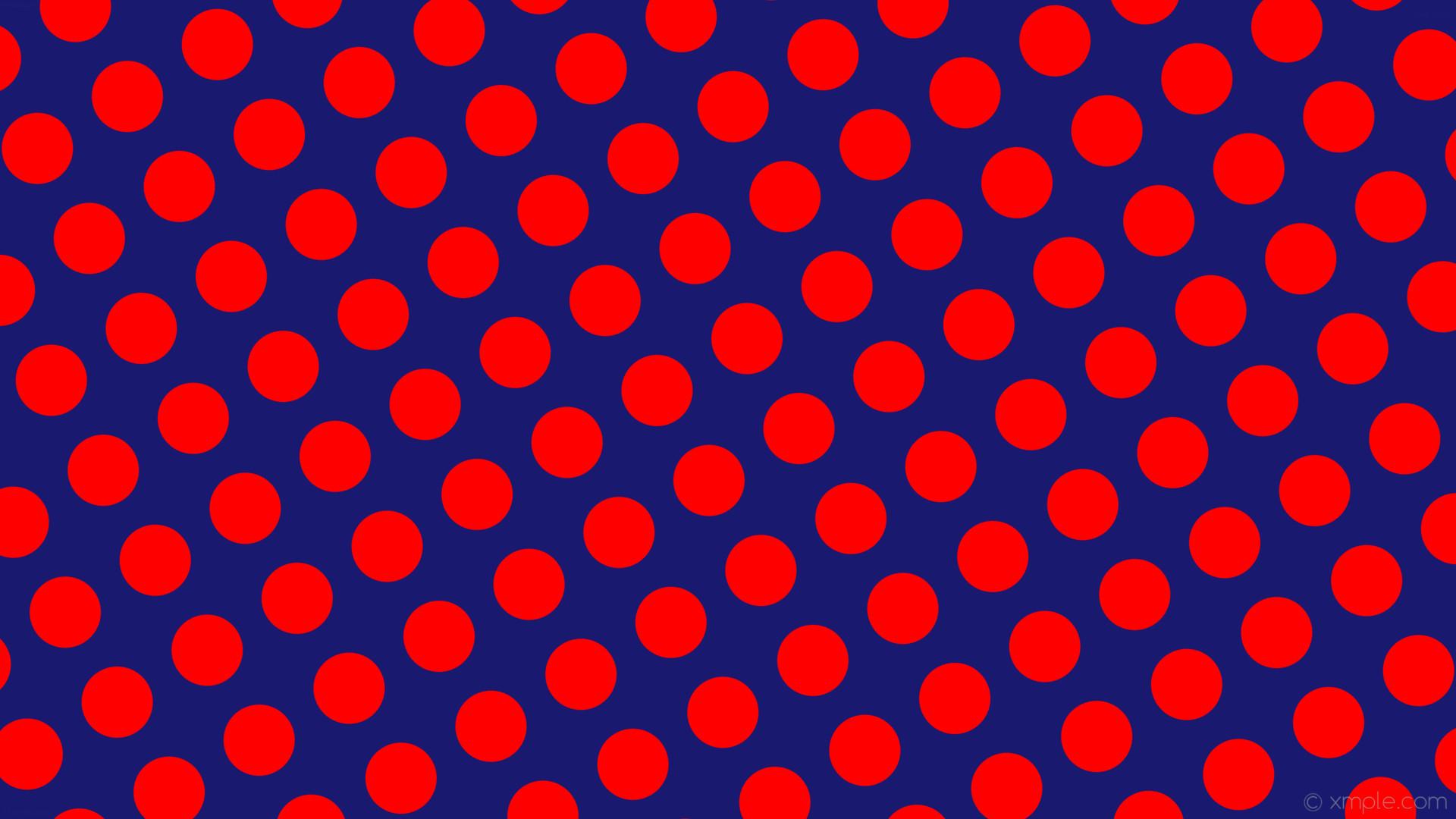 wallpaper polka spots red dots blue midnight blue #191970 #ff0000 210° 94px  137px