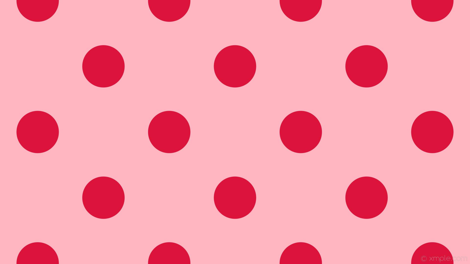 wallpaper pink polka dots spots red light pink crimson #ffb6c1 #dc143c 315°  173px
