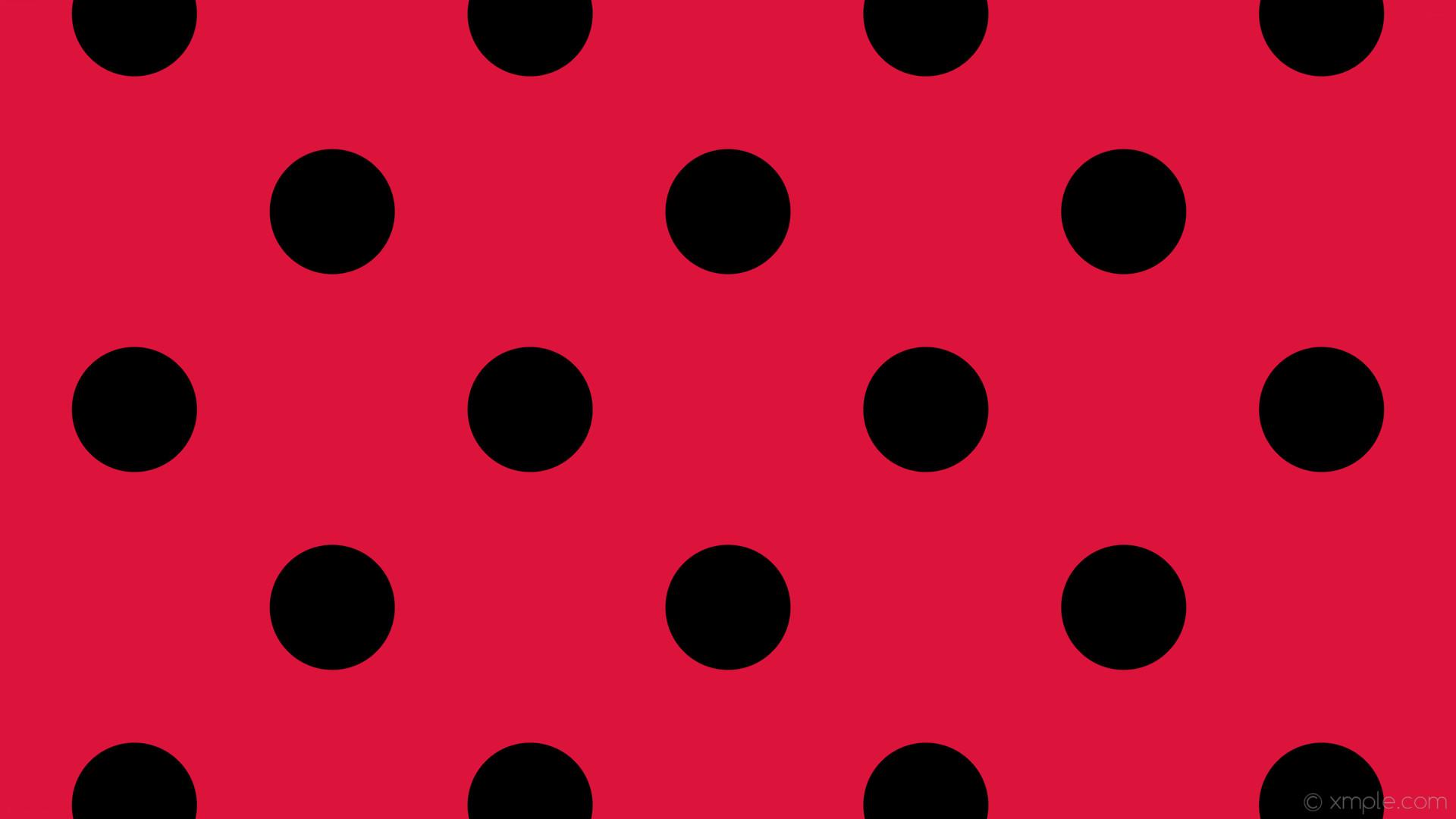 wallpaper red polka dots black spots crimson #dc143c #000000 225° 165px  369px