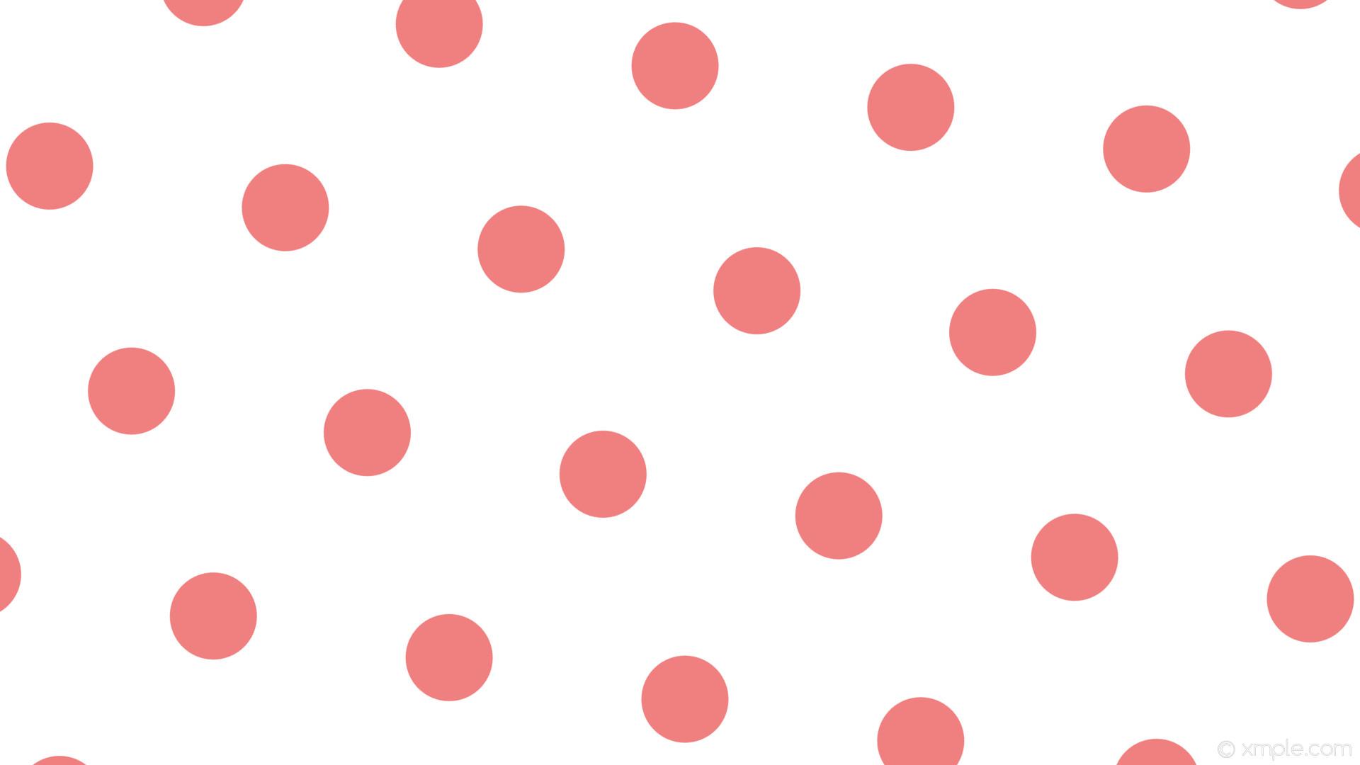wallpaper red polka dots hexagon white light coral #ffffff #f08080 diagonal  50° 123px