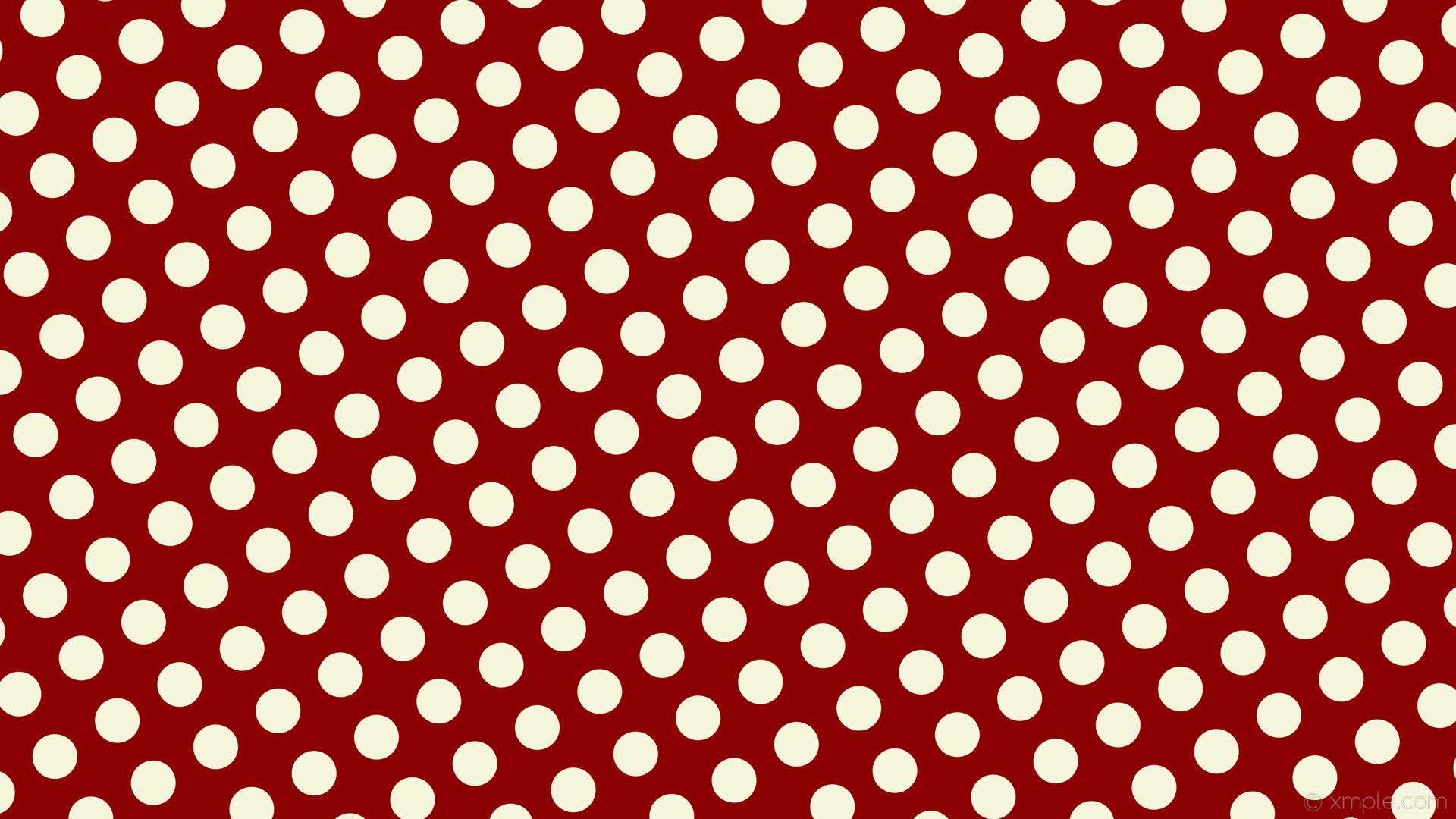 wallpaper dots red polka spots white dark red beige #8b0000 #f5f5dc 300°  59px