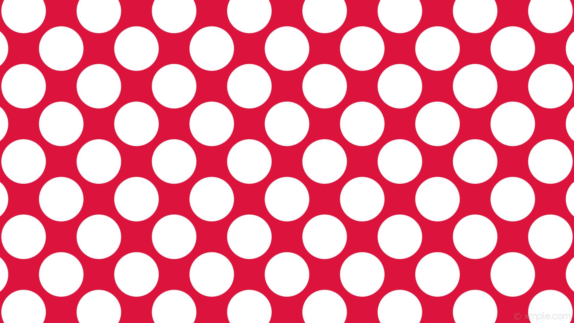 wallpaper red polka dots white spots crimson #dc143c #ffffff 315° 149px  178px