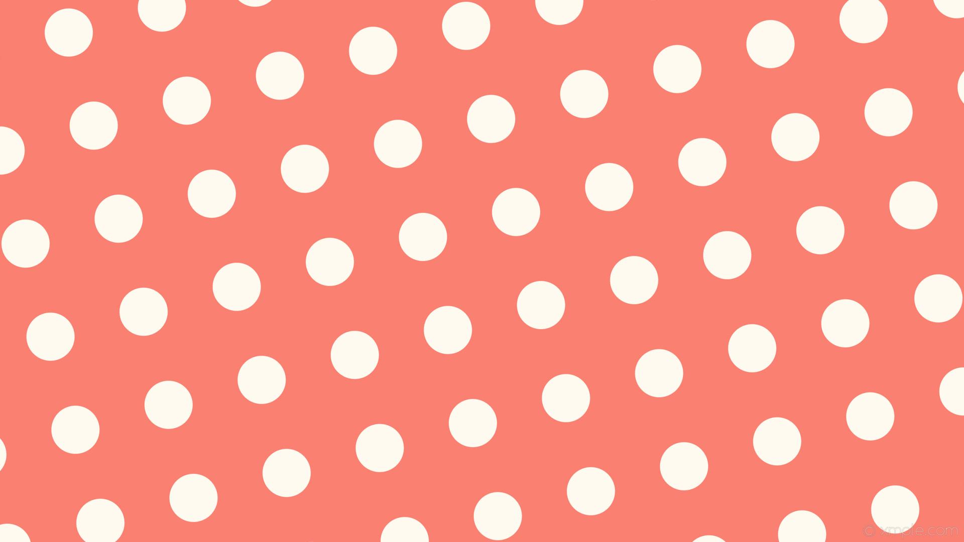 wallpaper spots white dots red polka salmon floral white #fa8072 #fffaf0  285° 96px