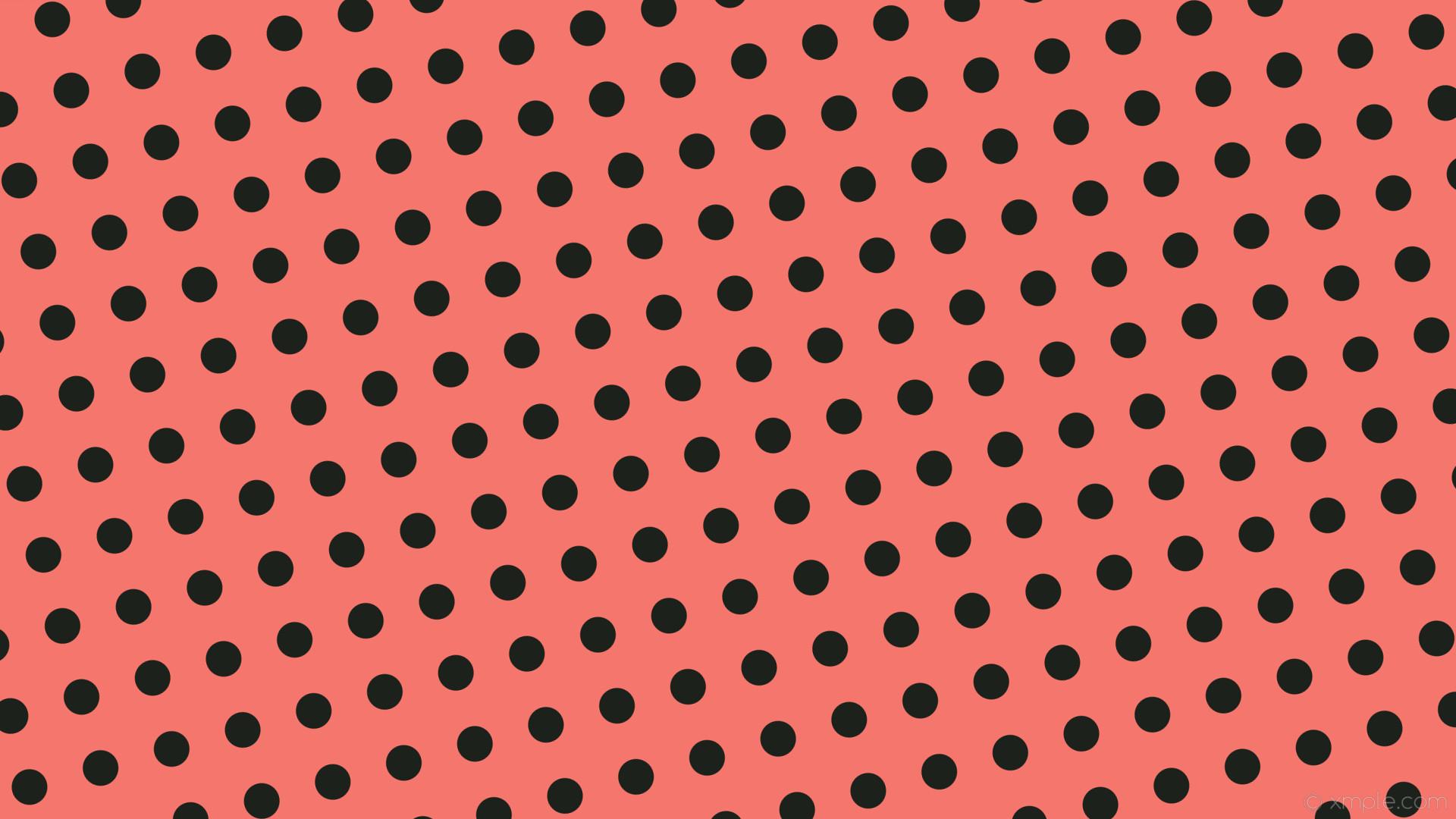 wallpaper spots lime dots red polka dark lime #f4766c #1d211b 105° 47px 97px