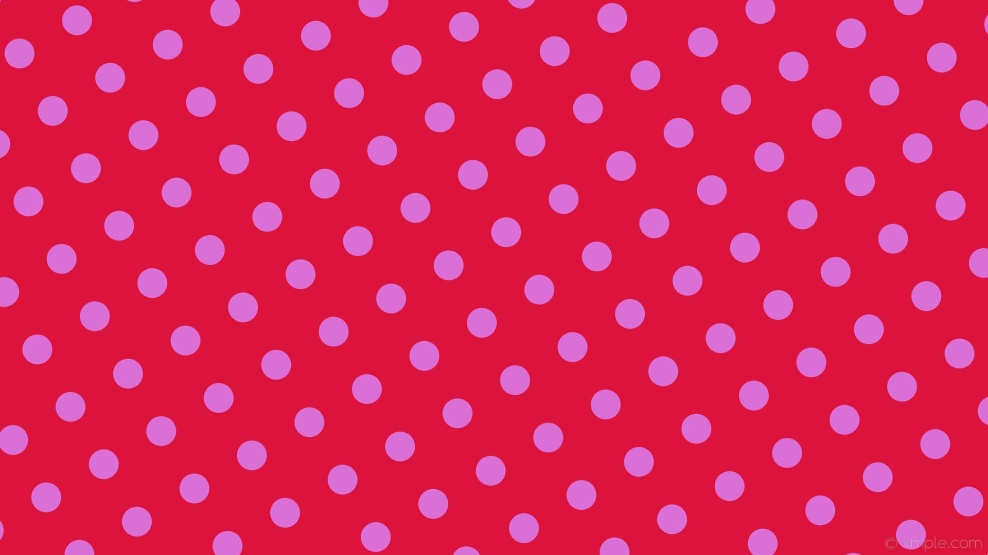wallpaper red polka dots spots purple crimson orchid #dc143c #da70d6 30°  58px 129px