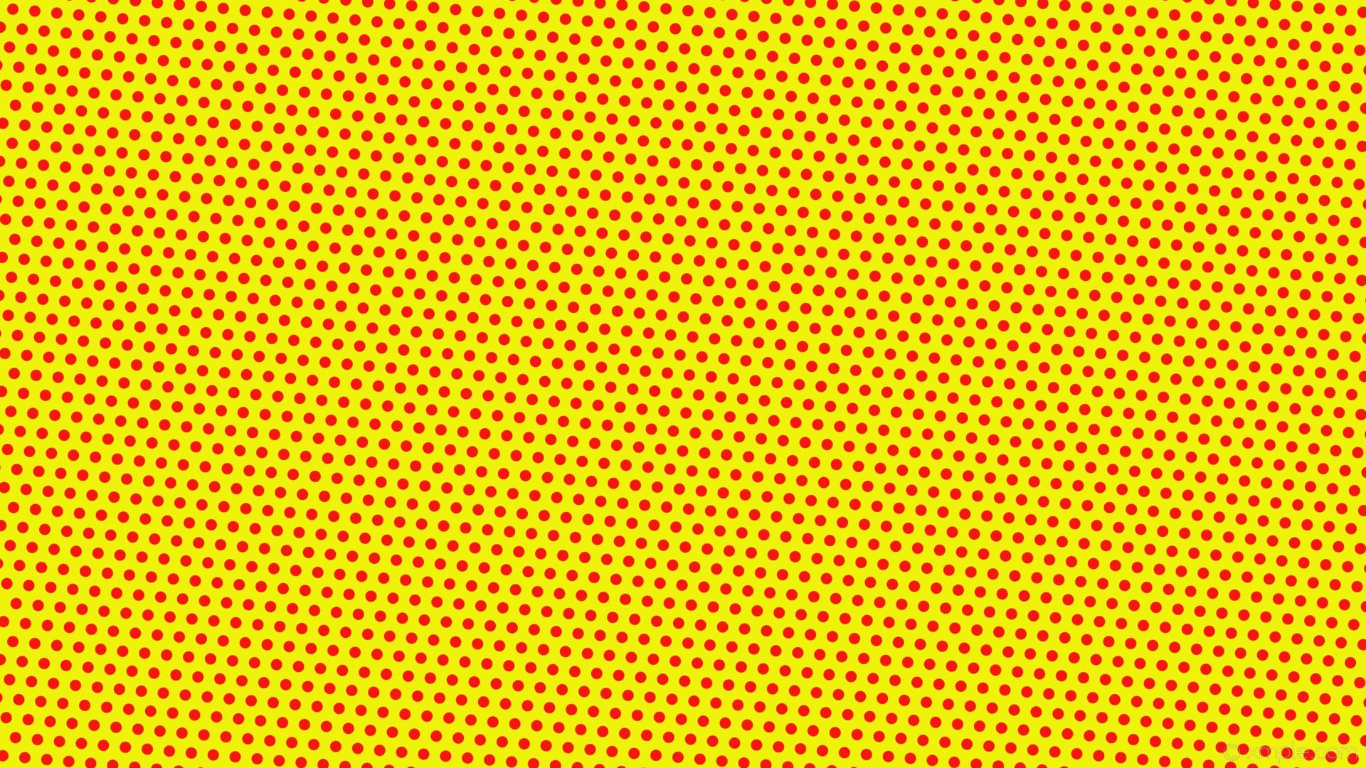 wallpaper red polka hexagon yellow dots #eff30b #f3180b diagonal 55° 16px  31px