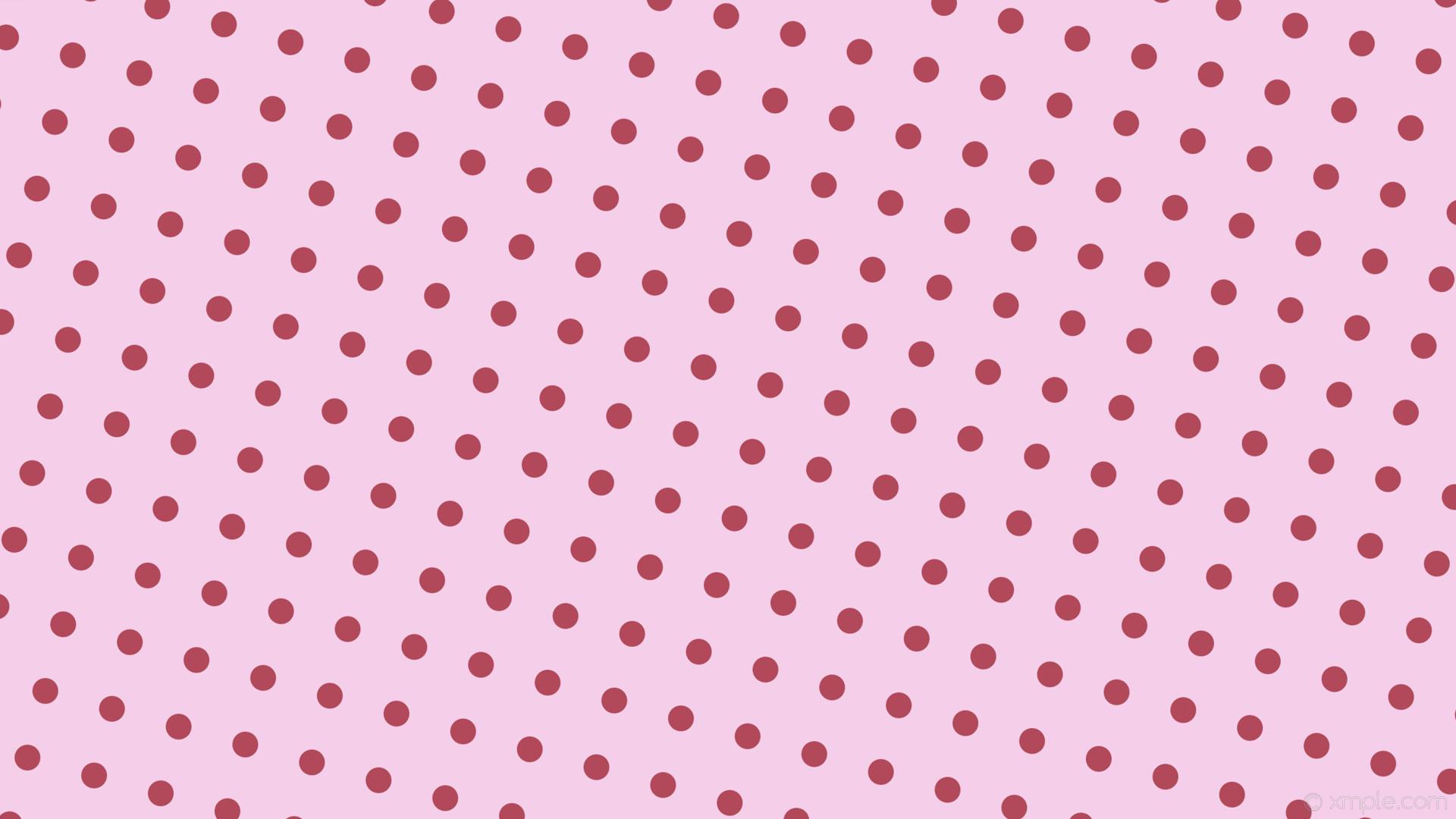 wallpaper red spots pink polka dots light pink #f5cfe9 #b1495b 255° 34px  91px