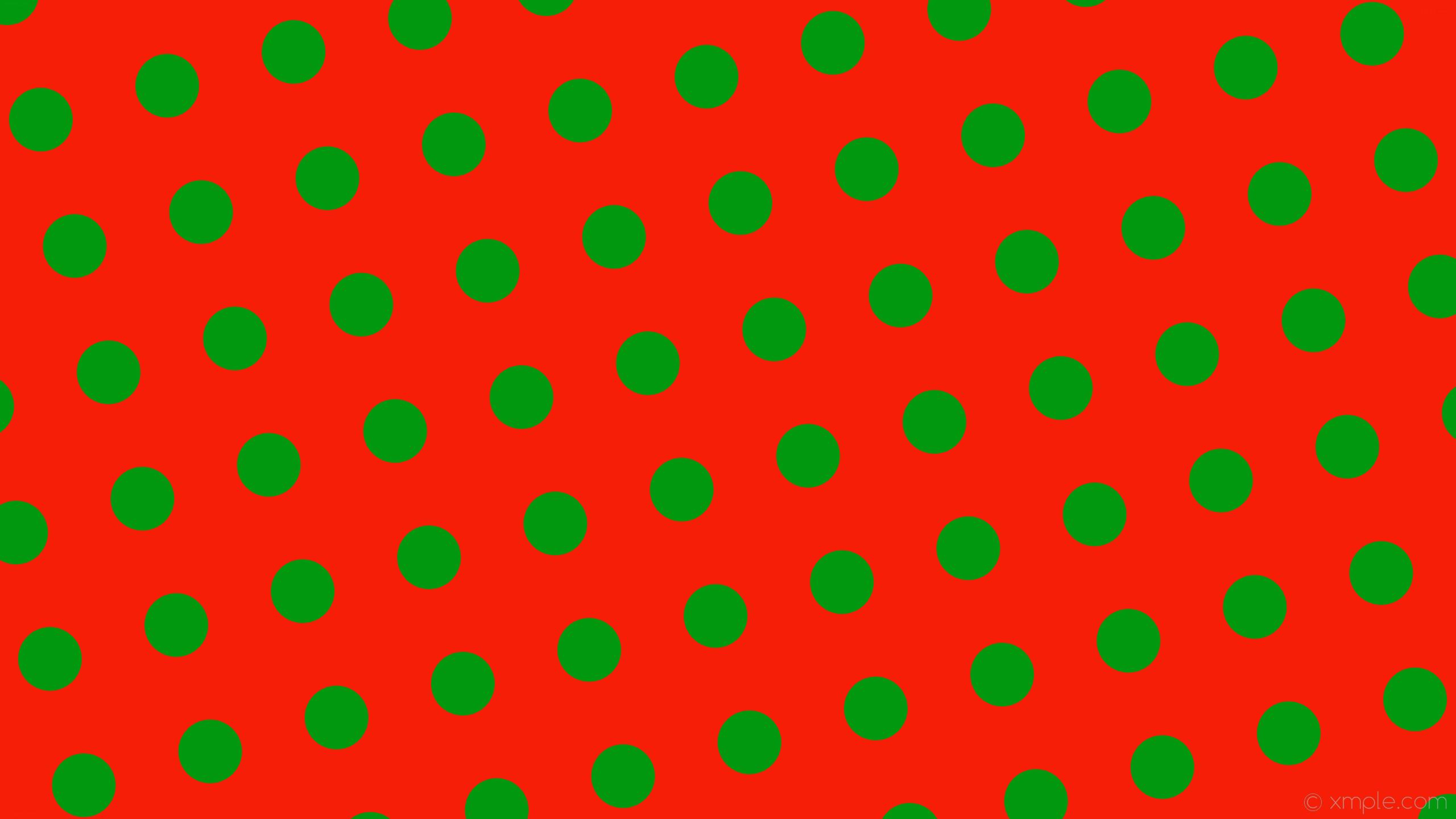 wallpaper red polka dots green spots #f61e06 #01980f 285° 112px 230px