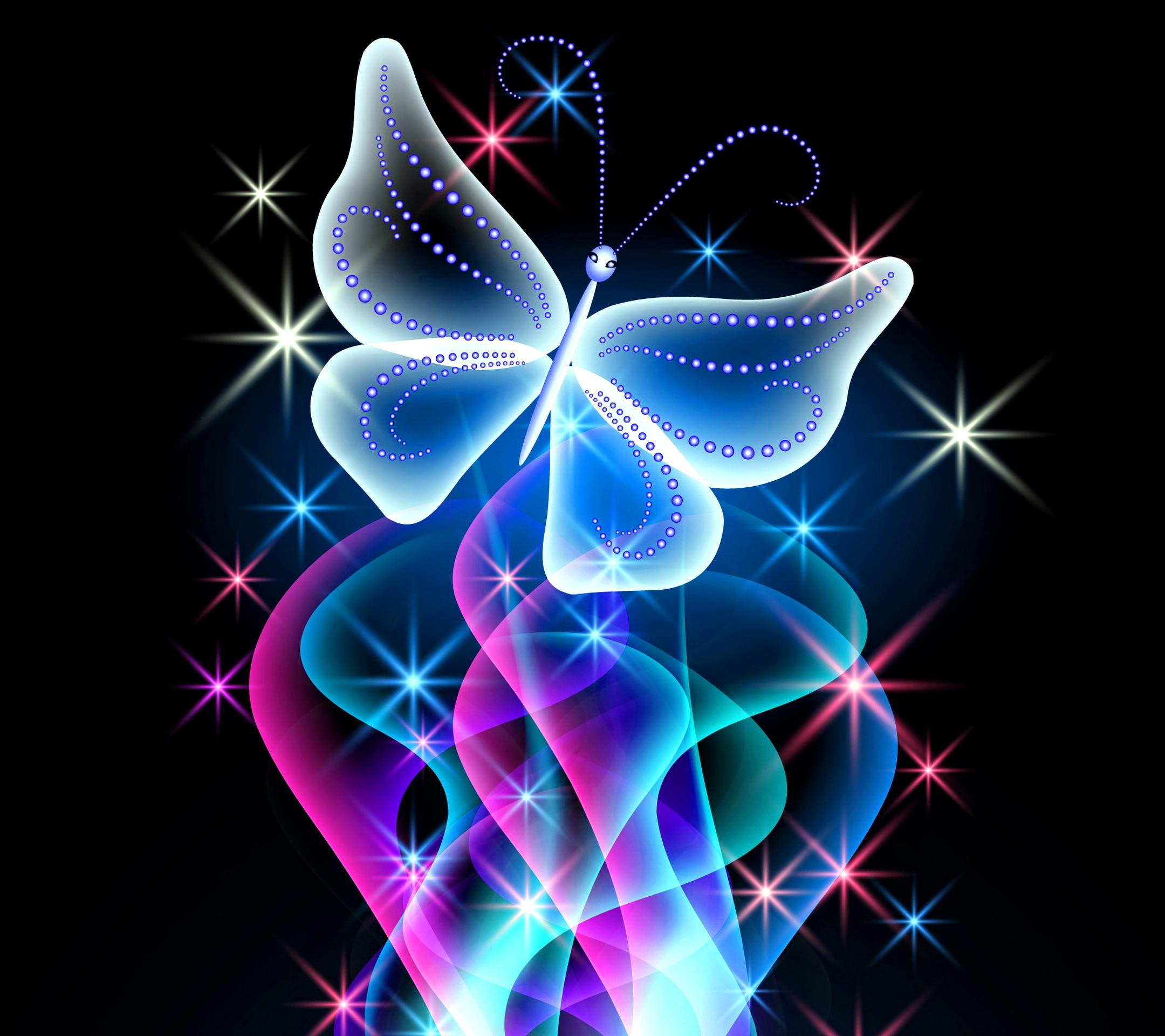 Animal Wallpapers   Neon Butterfly Desktop Background wallpapers HD free –  497368