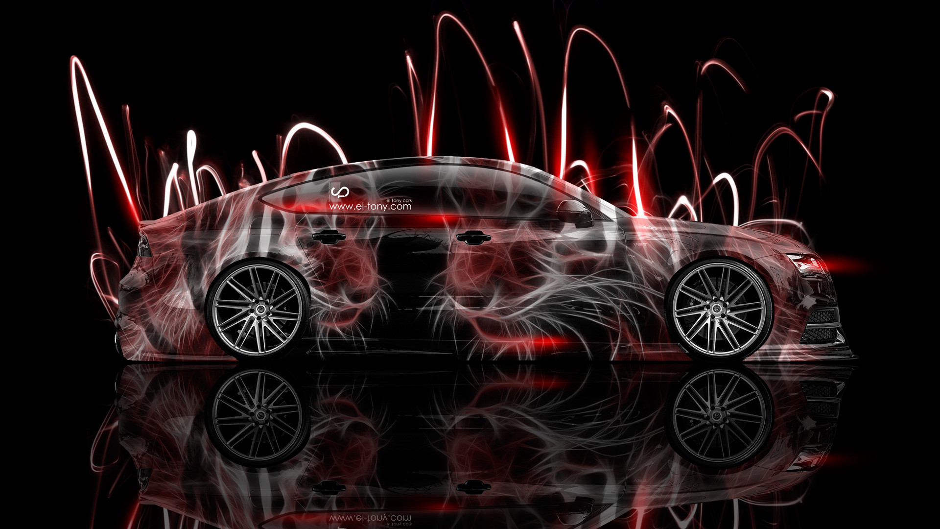 … Audi-S7-Side-Animal-Aerography-Tiger-Abstract-Car- …