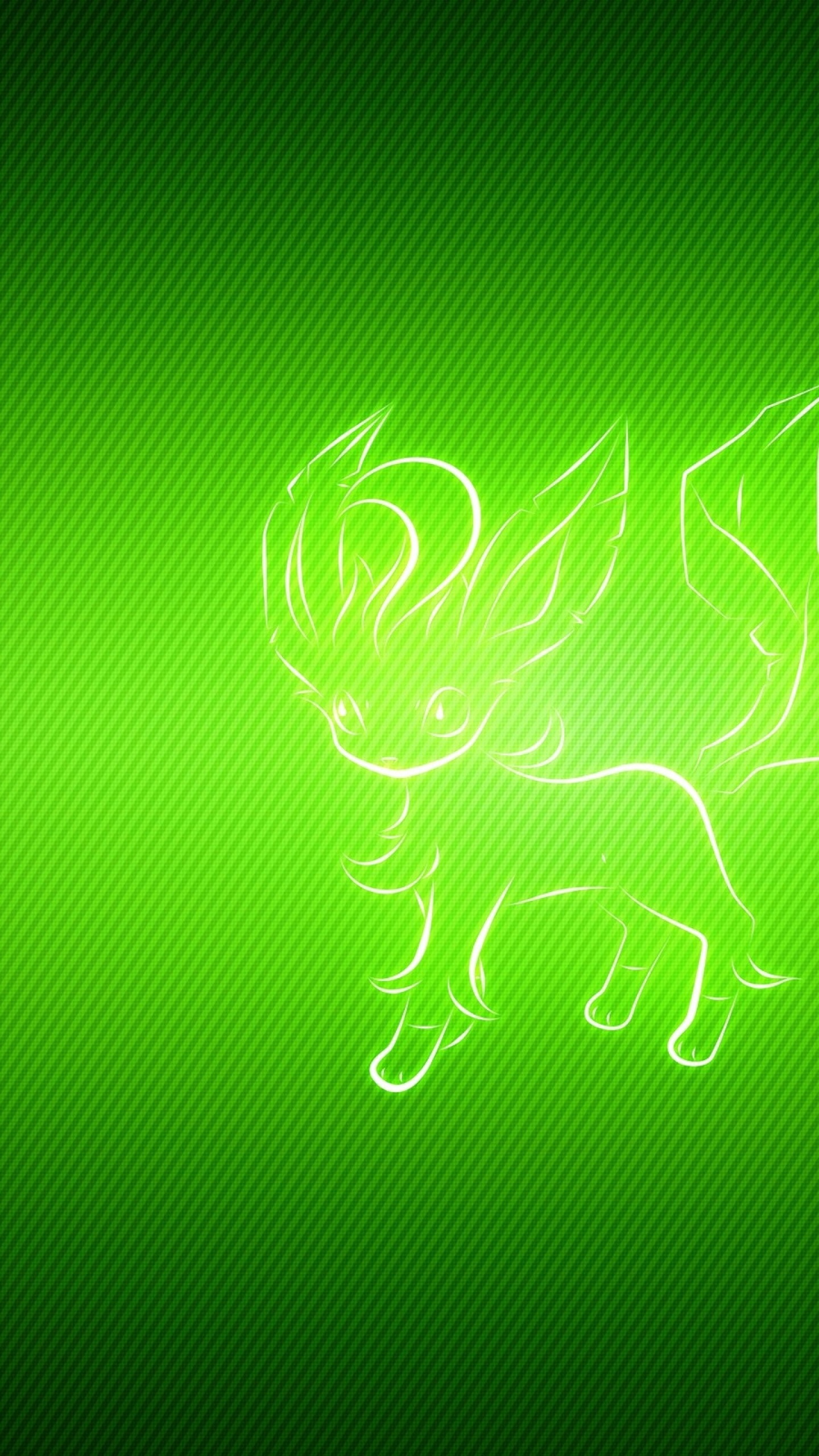 Wallpaper animal, pokemon, green, leafeon