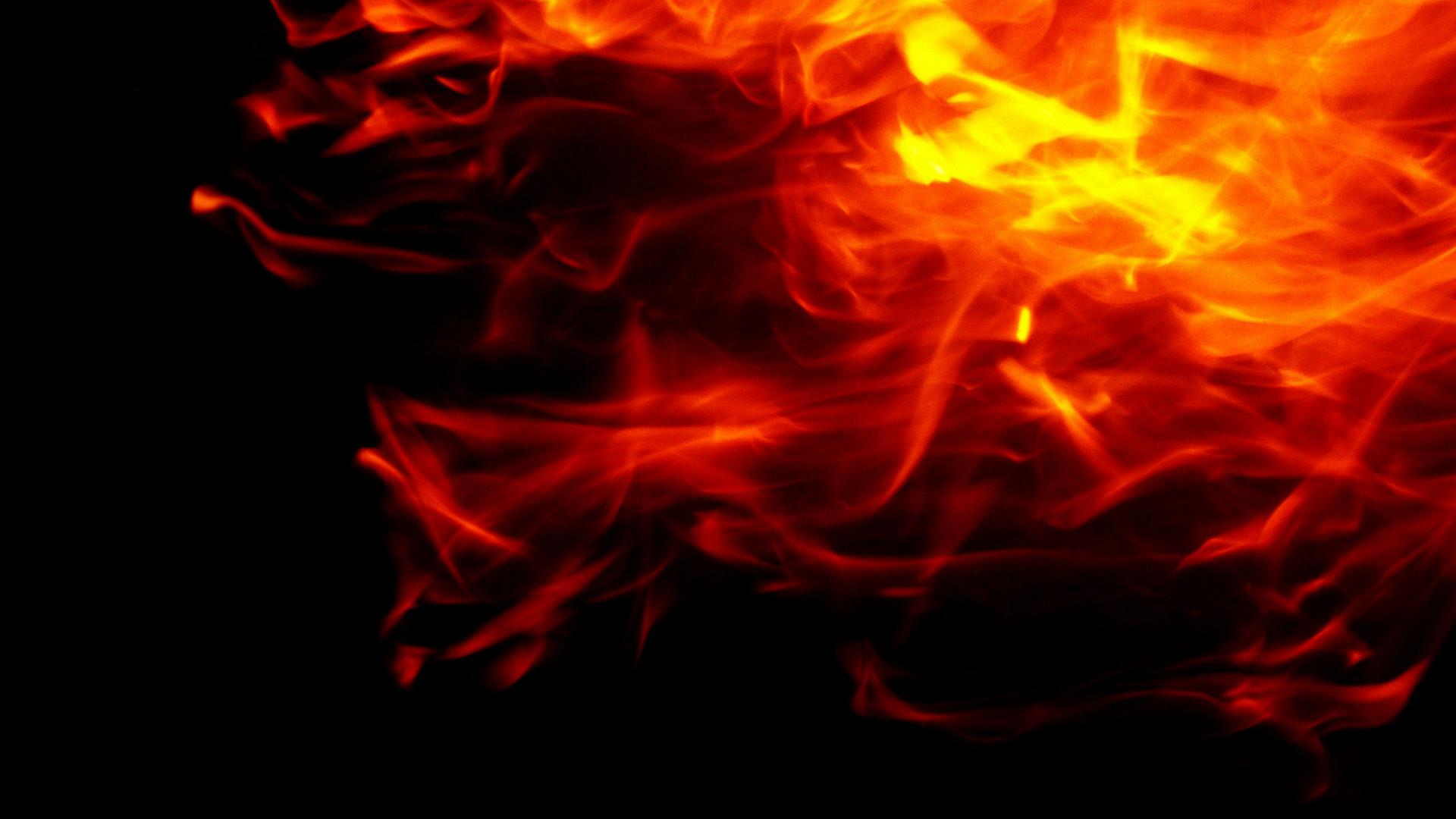 Red Flames 1920x1080p HD Fire Wallpaper