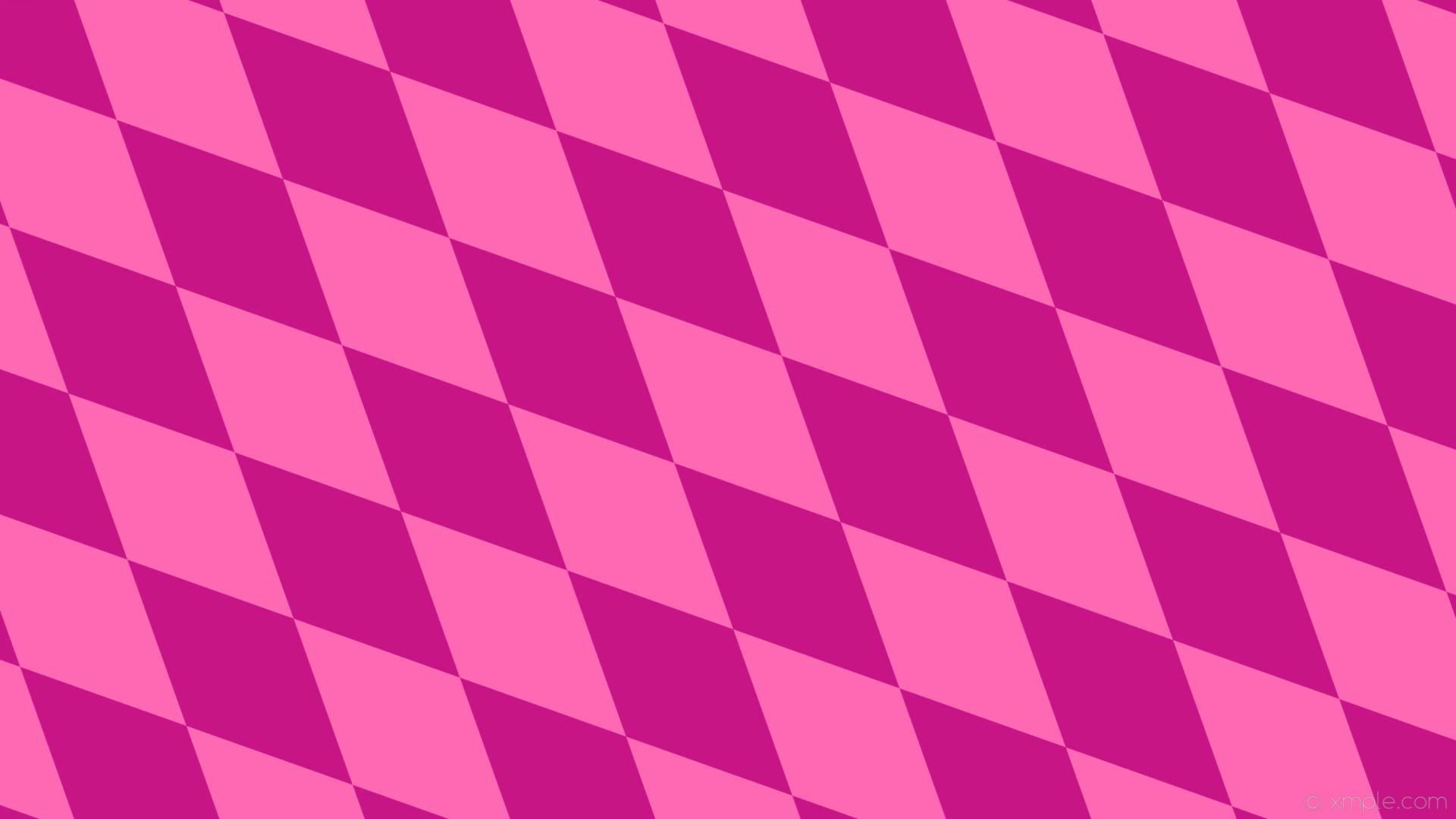 wallpaper pink diamond lozenge rhombus hot pink medium violet red #ff69b4  #c71585 135°
