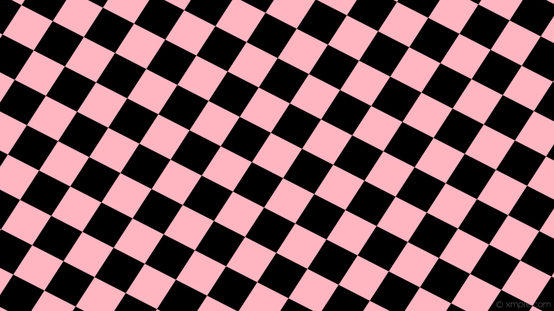 wallpaper black pink diamond lozenge rhombus light pink #ffb6c1 #000000 15°  180px 163px