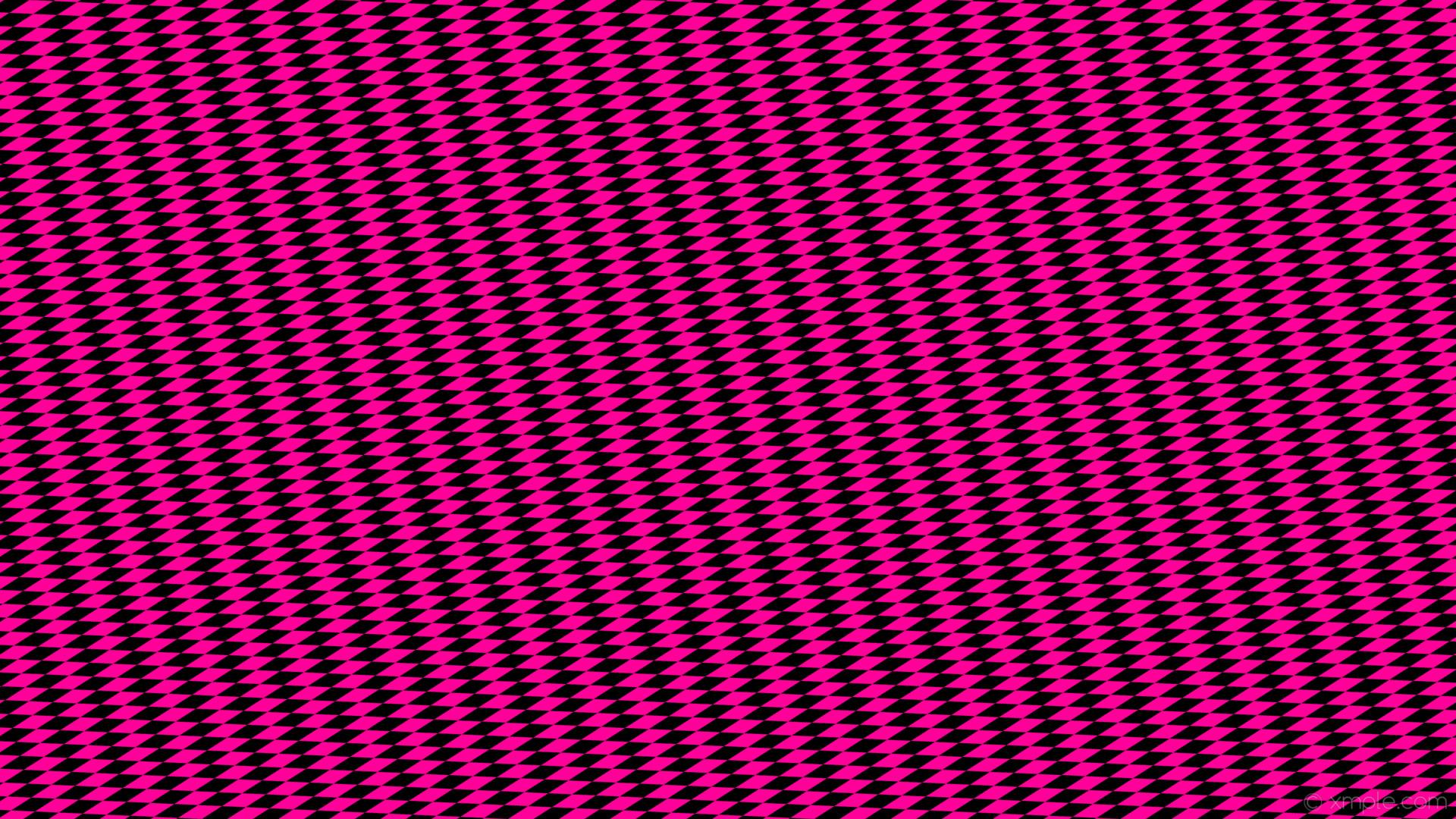 wallpaper rhombus lozenge black pink diamond #000000 #ff0099 15° 60px 19px
