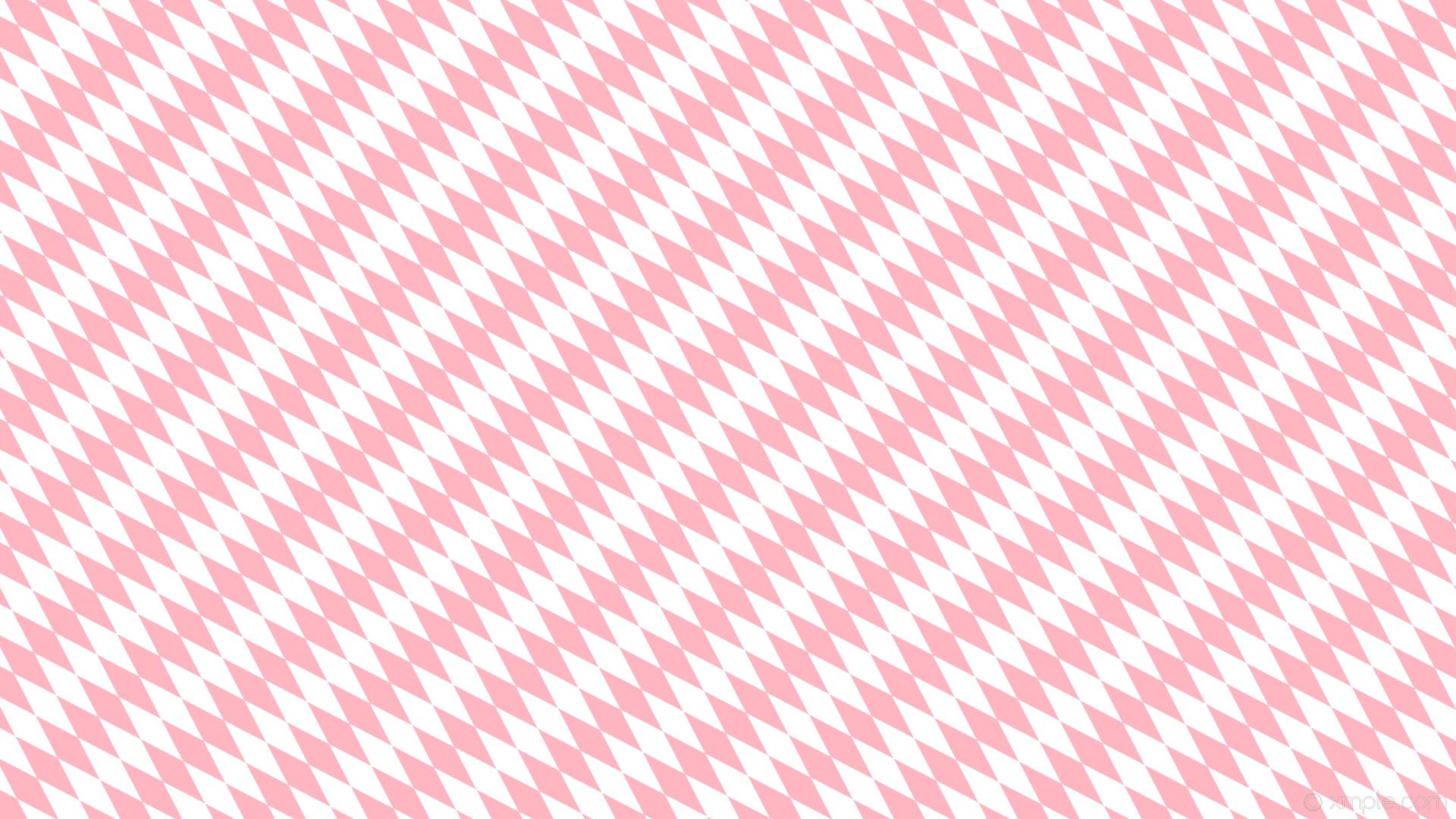 wallpaper pink diamond white lozenge rhombus light pink #ffffff #ffb6c1  135° 120px 38px