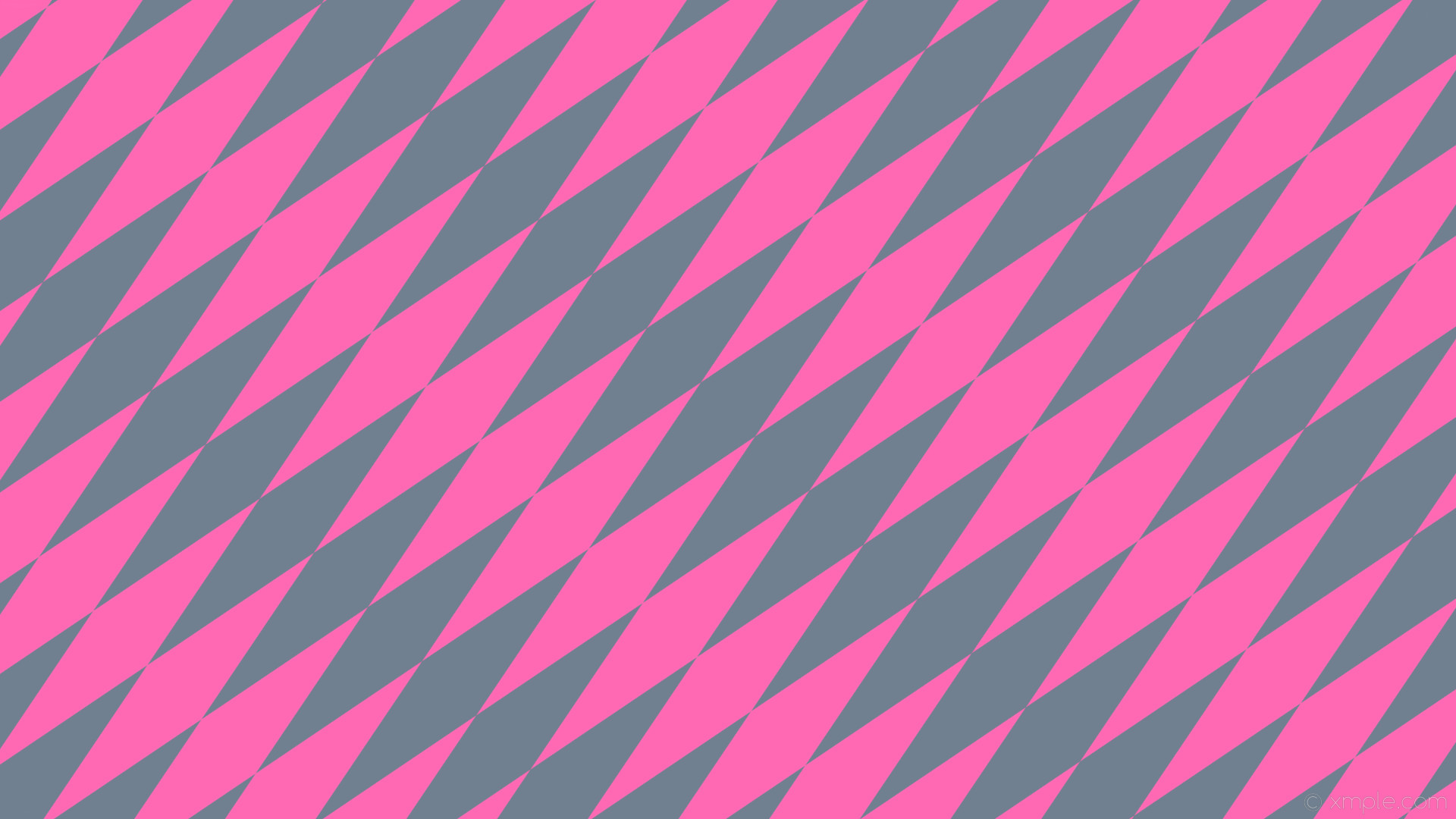 wallpaper rhombus lozenge pink diamond grey slate gray hot pink #708090  #ff69b4 45°