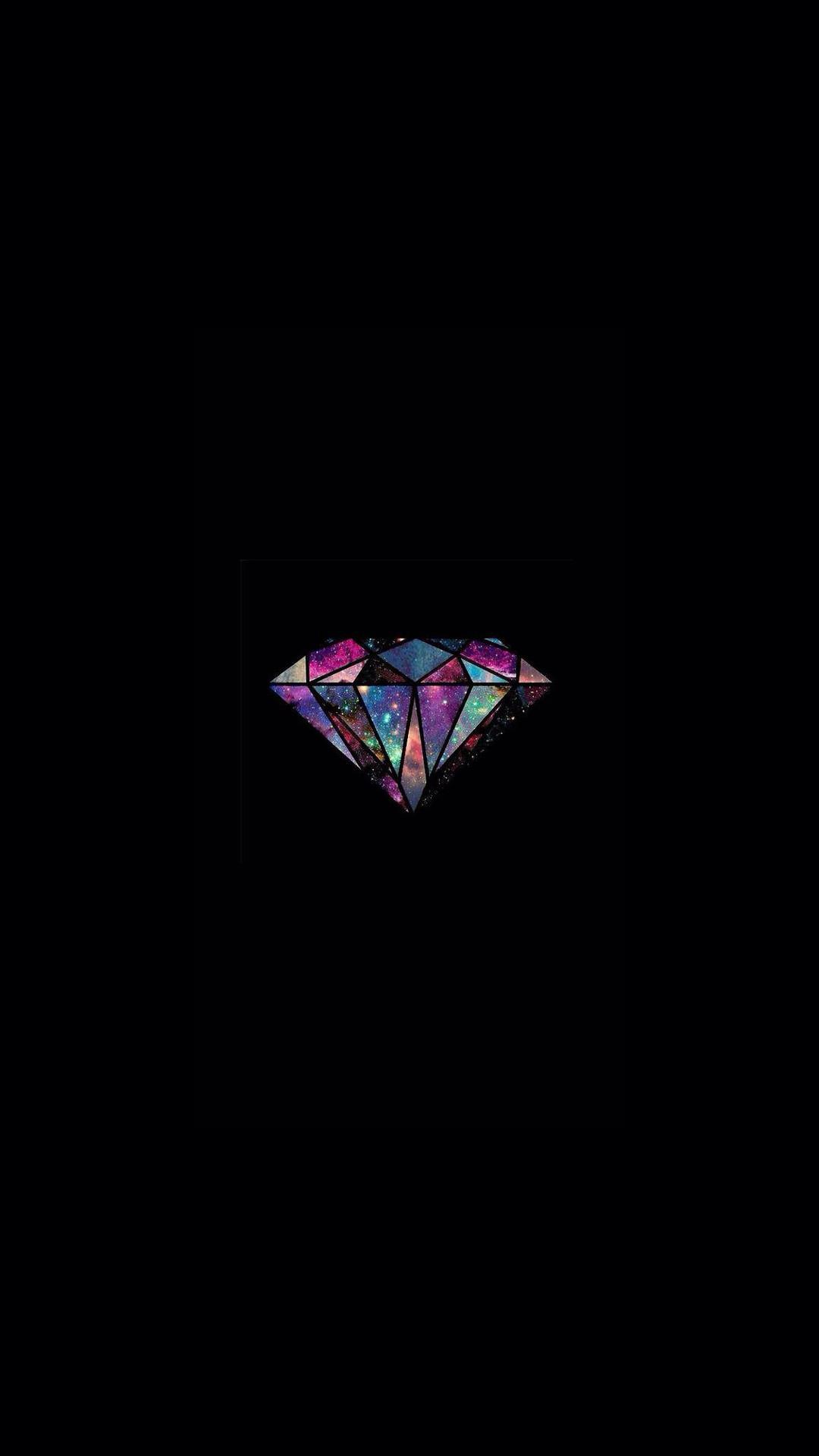 Diamond Universe Minimal Illustration iPhone 8 wallpaper