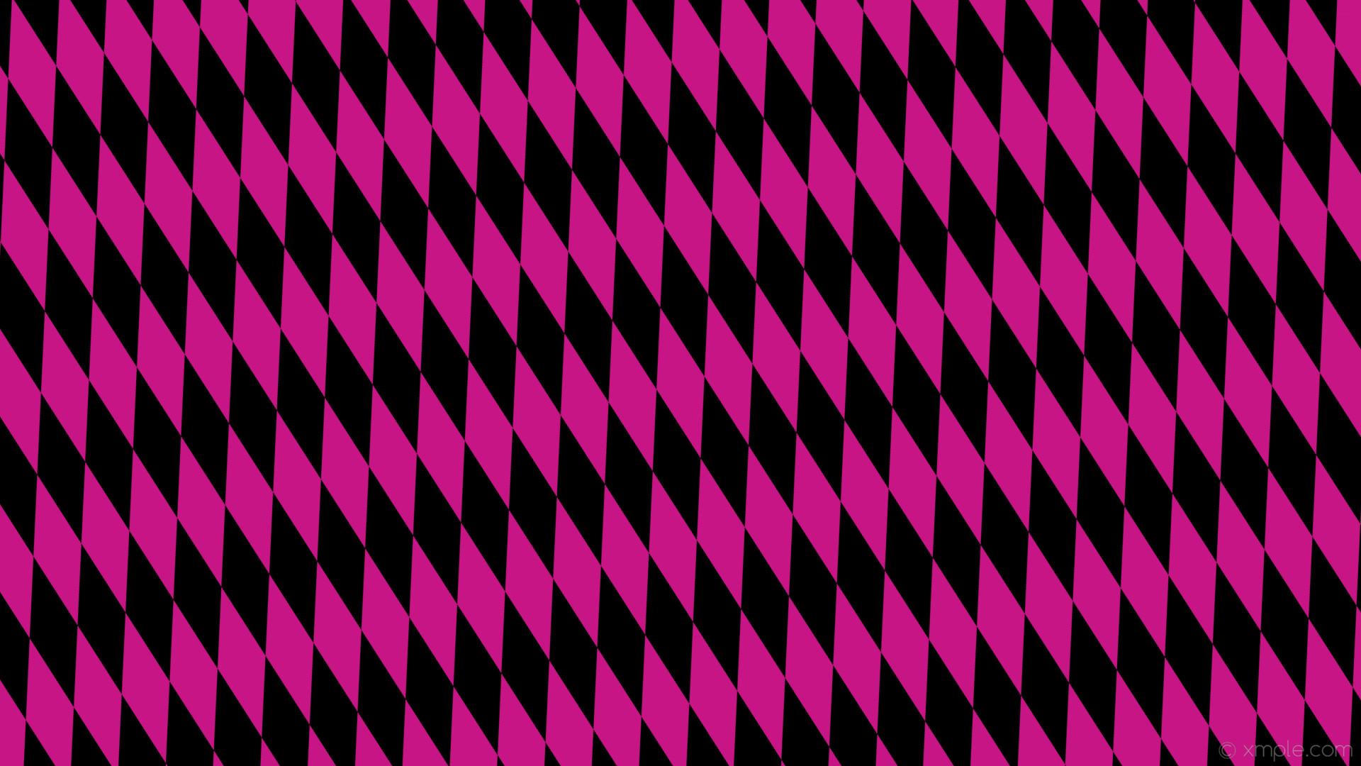 wallpaper lozenge rhombus black pink diamond medium violet red #c71585  #000000 105° 220px