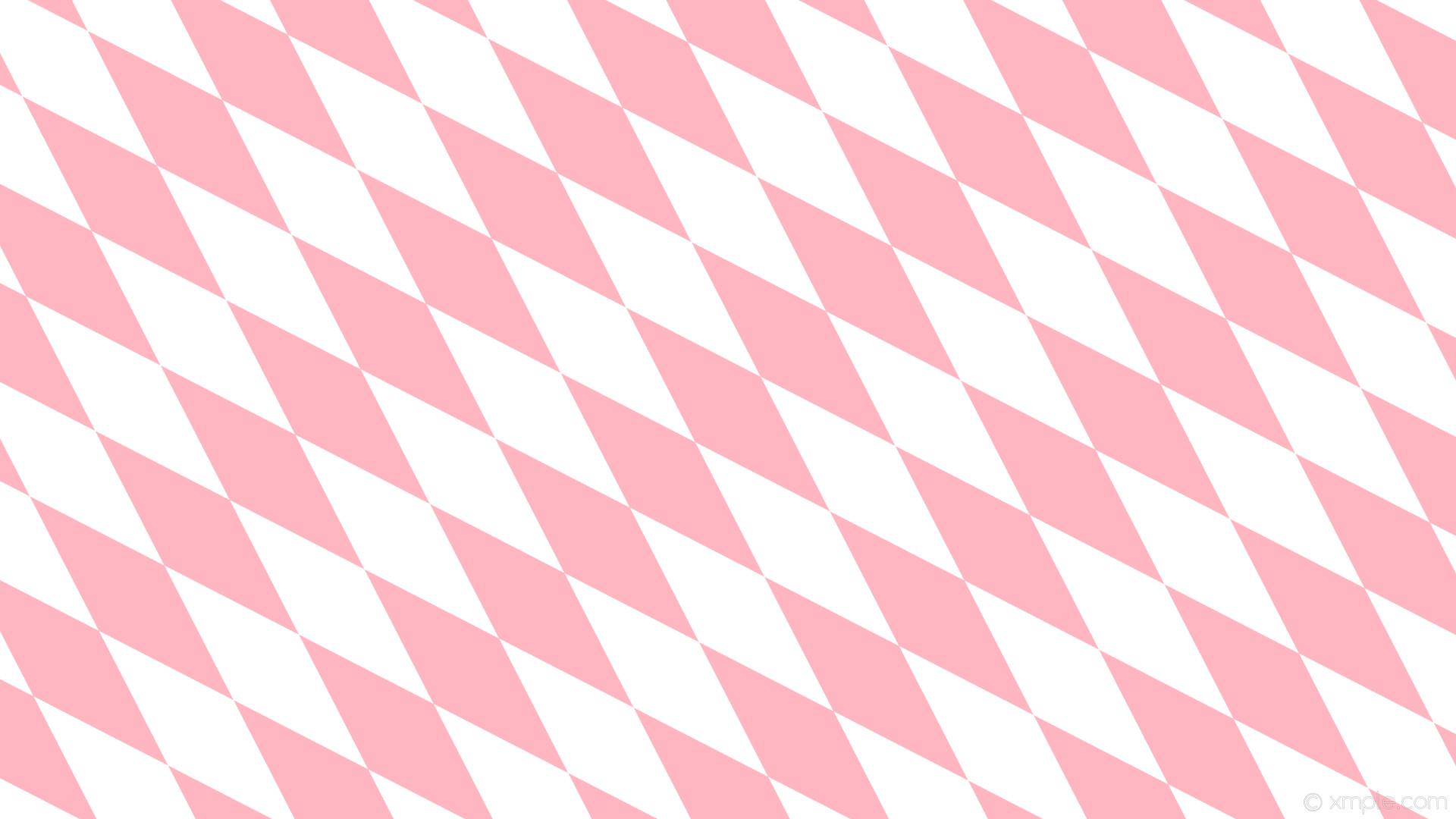wallpaper pink diamond white lozenge rhombus light pink #ffb6c1 #ffffff  135° 380px 122px