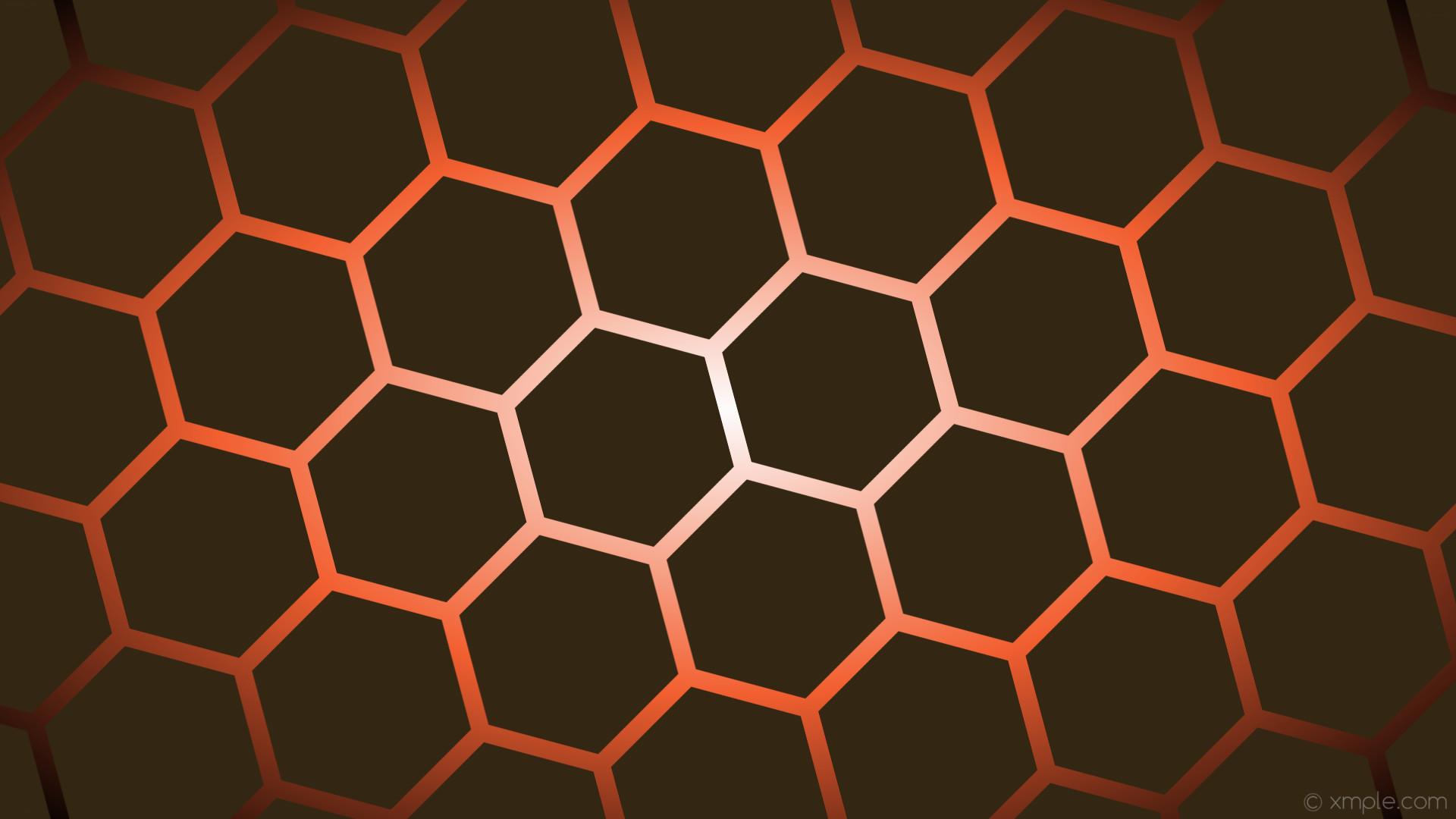 wallpaper white gradient black red hexagon orange glow dark orange #332612  #ffffff #f46031