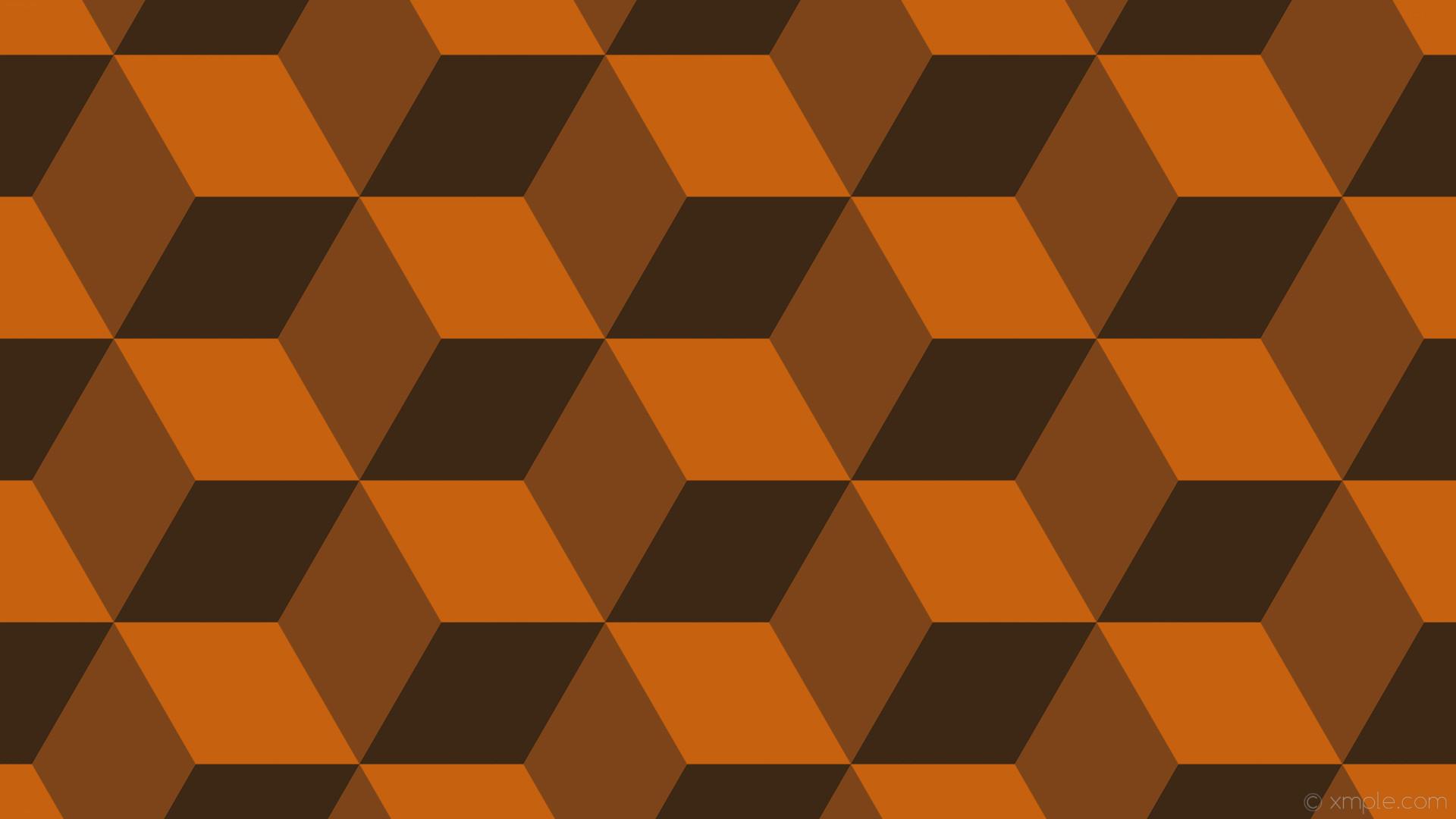 wallpaper 3d cubes orange dark orange #c66110 #7c4418 #3d2715 330° 216px