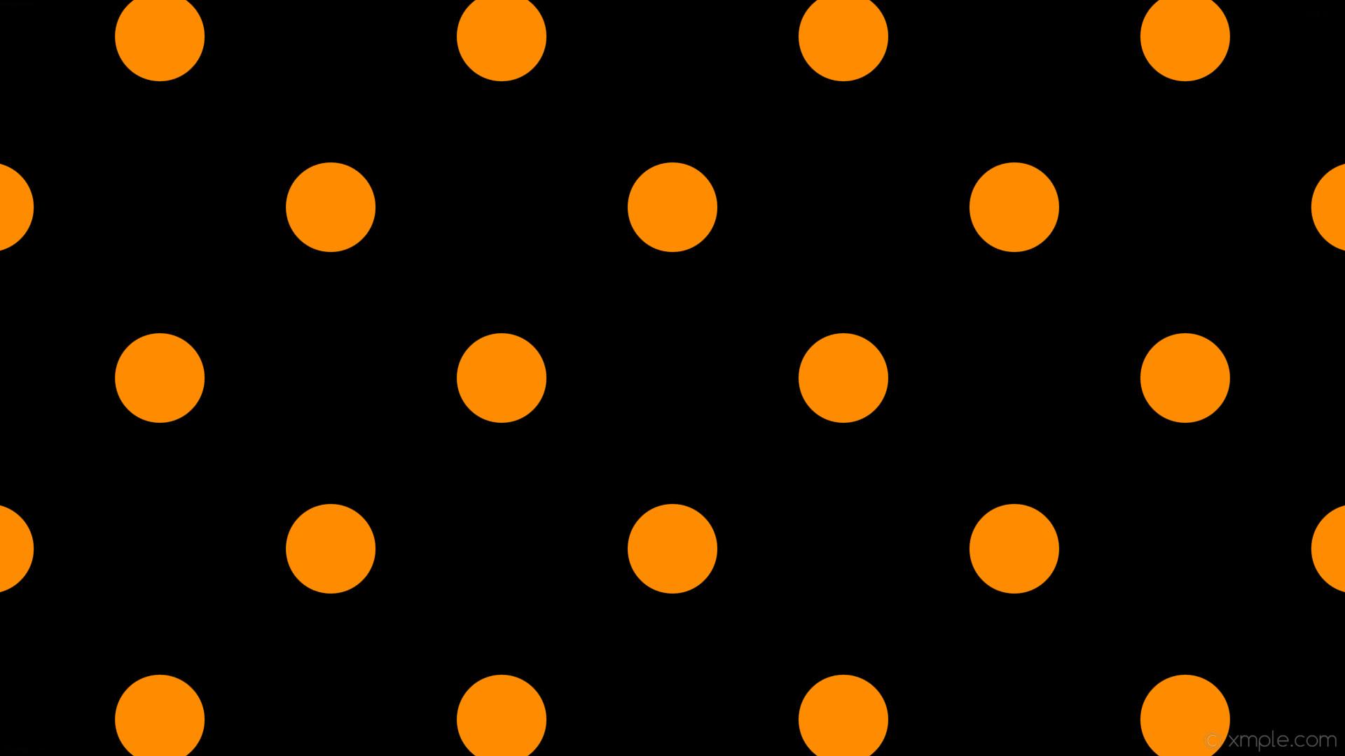 wallpaper spots black dots polka orange dark orange #000000 #ff8c00 225°  128px 345px