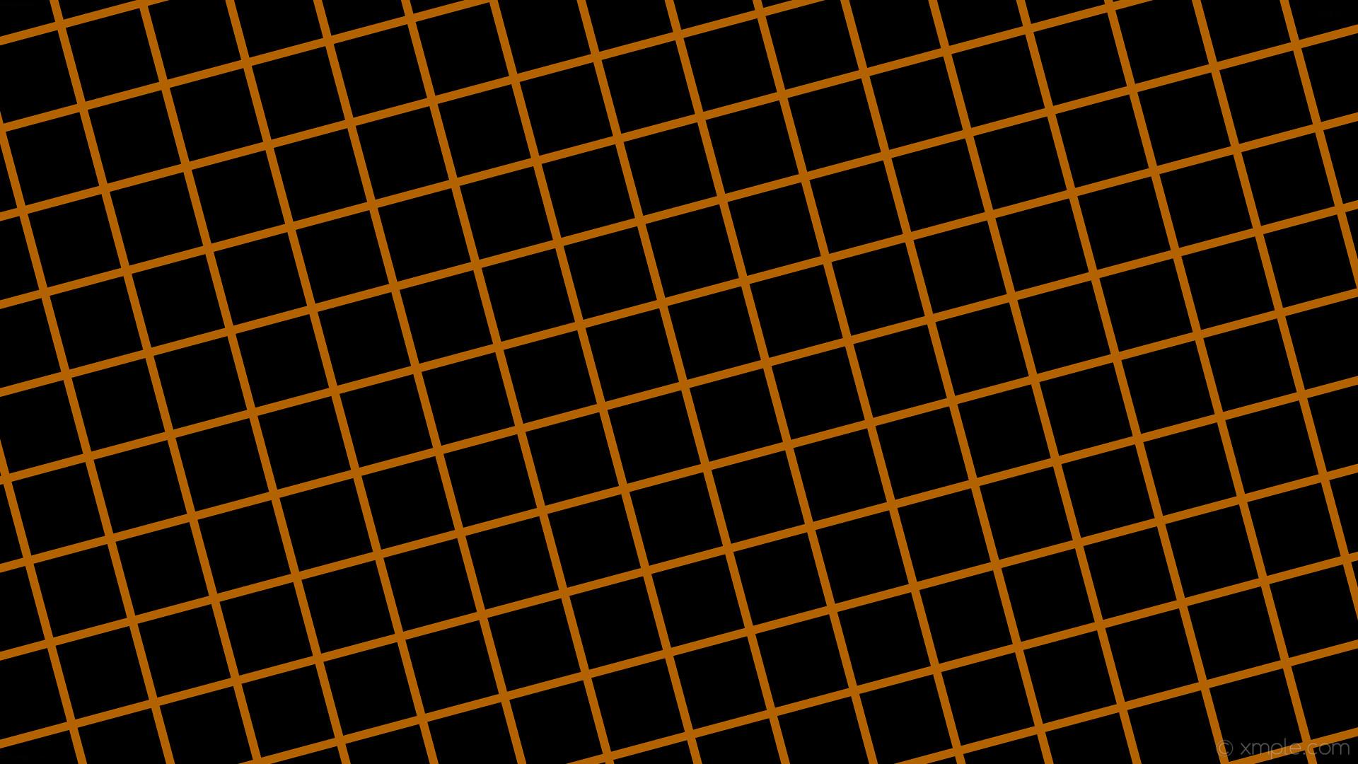 wallpaper black orange graph paper grid dark orange #000000 #ff8c00 15°  12px 120px