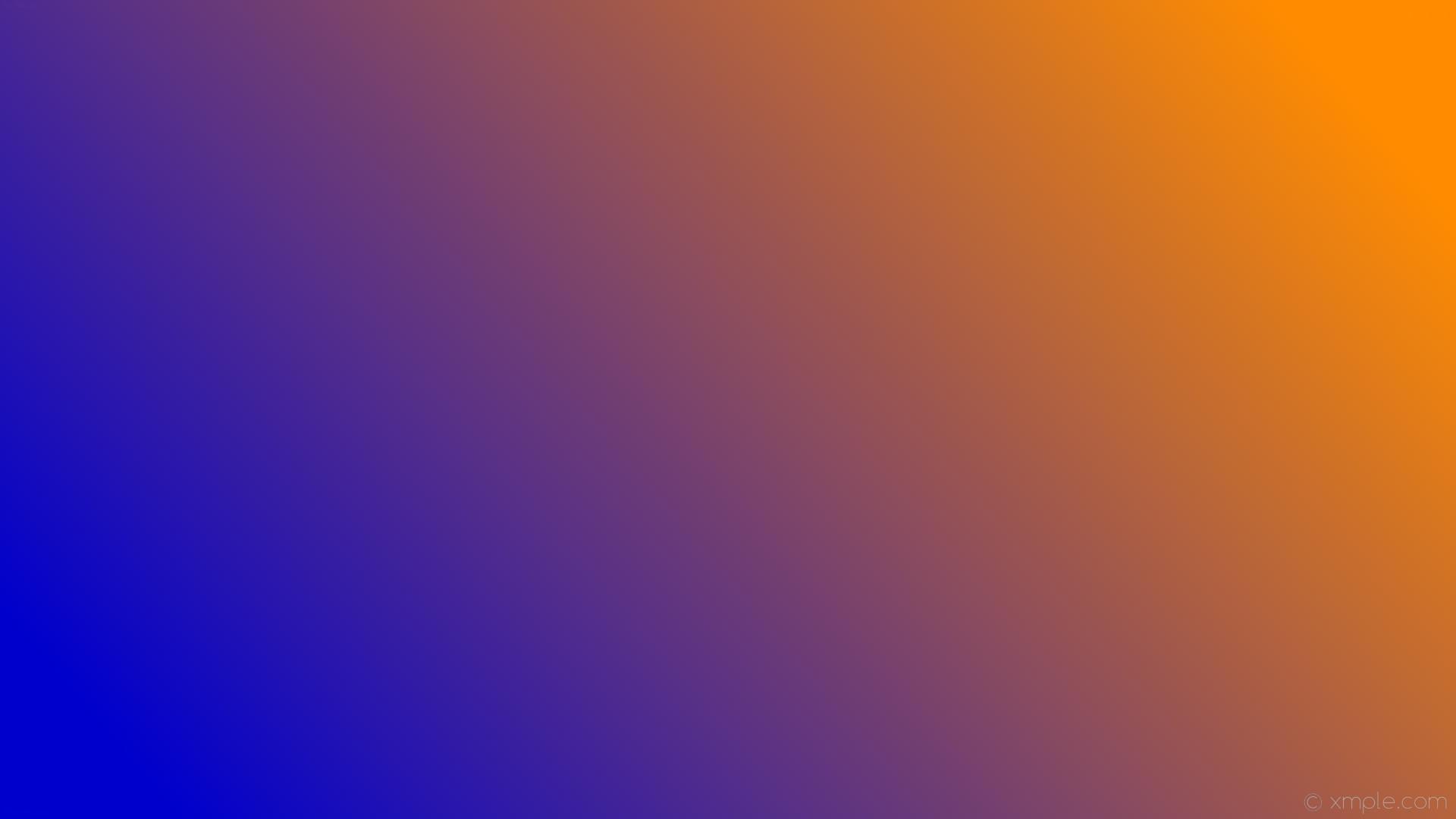 wallpaper linear orange gradient blue dark orange medium blue #ff8c00  #0000cd 15°