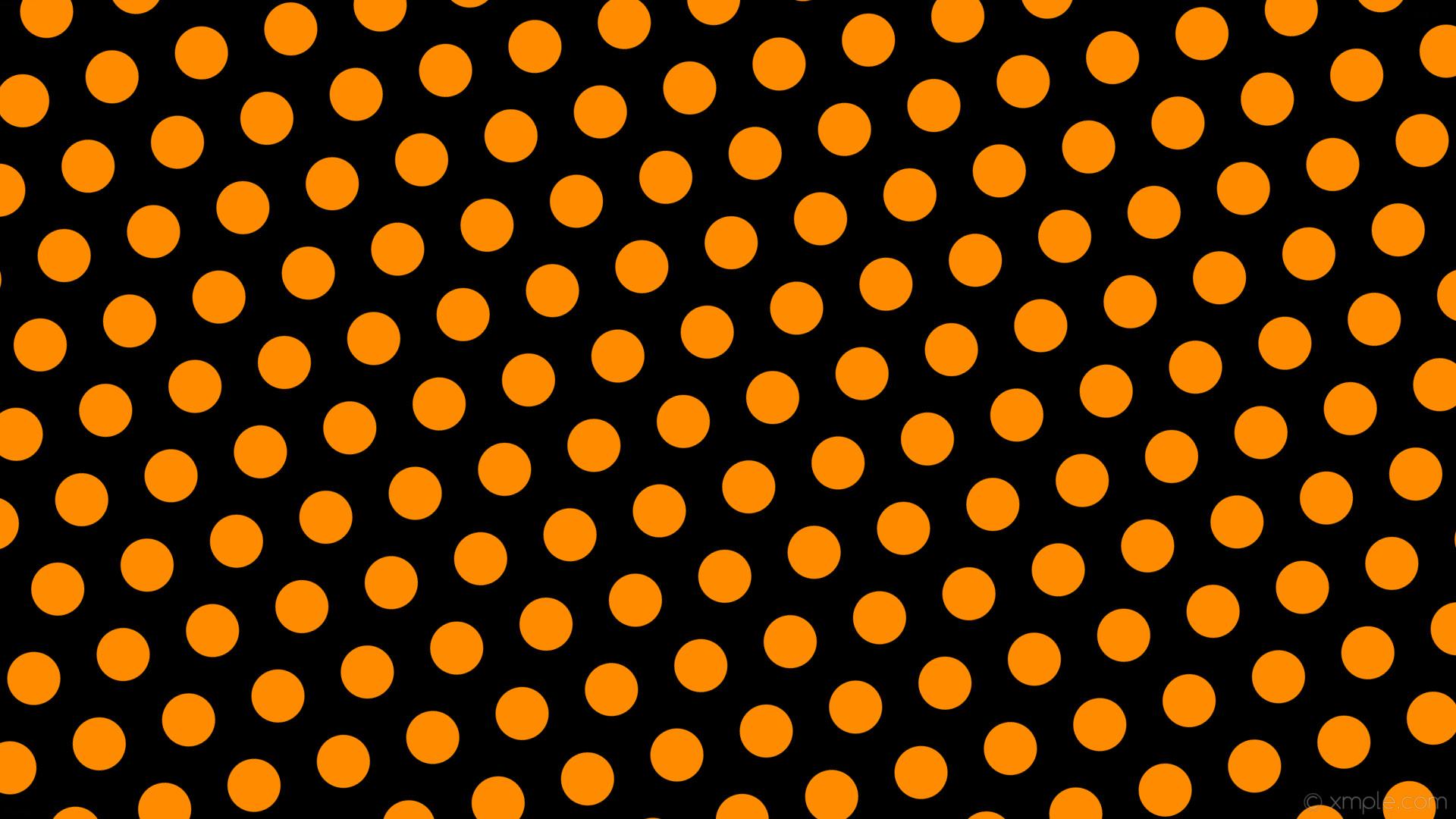 wallpaper orange black hexagon polka dots dark orange #000000 #ff8c00  diagonal 15° 70px