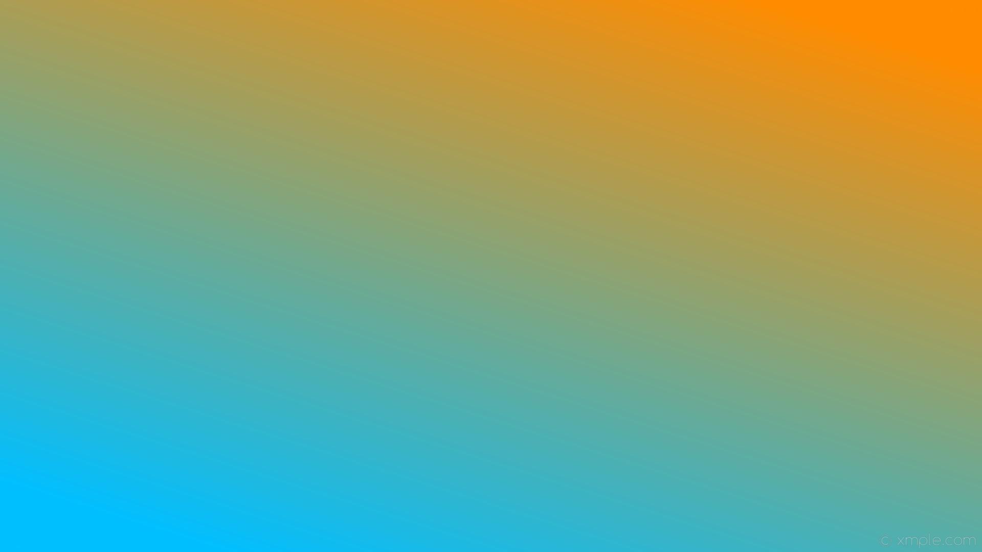 wallpaper linear orange gradient blue dark orange deep sky blue #ff8c00  #00bfff 45°