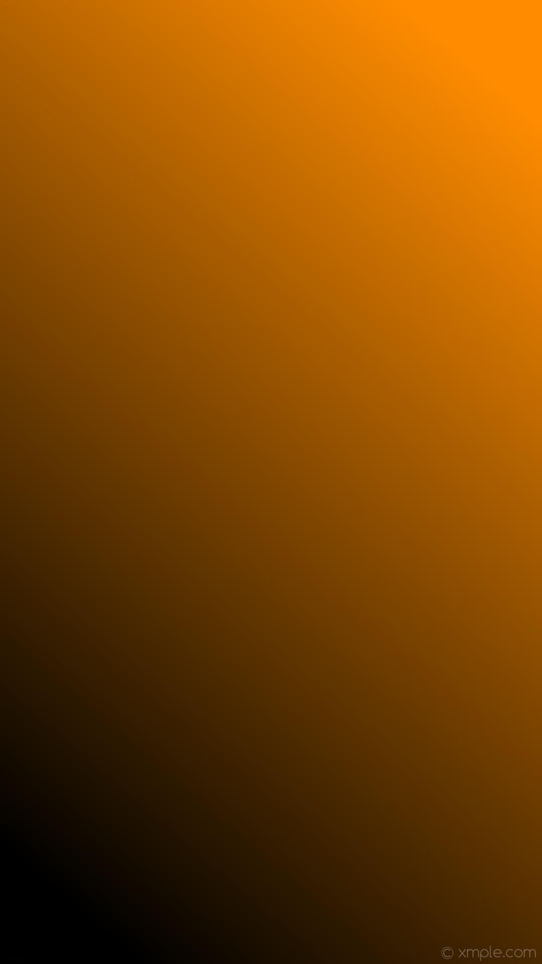 wallpaper gradient orange black linear dark orange #000000 #ff8c00 255°