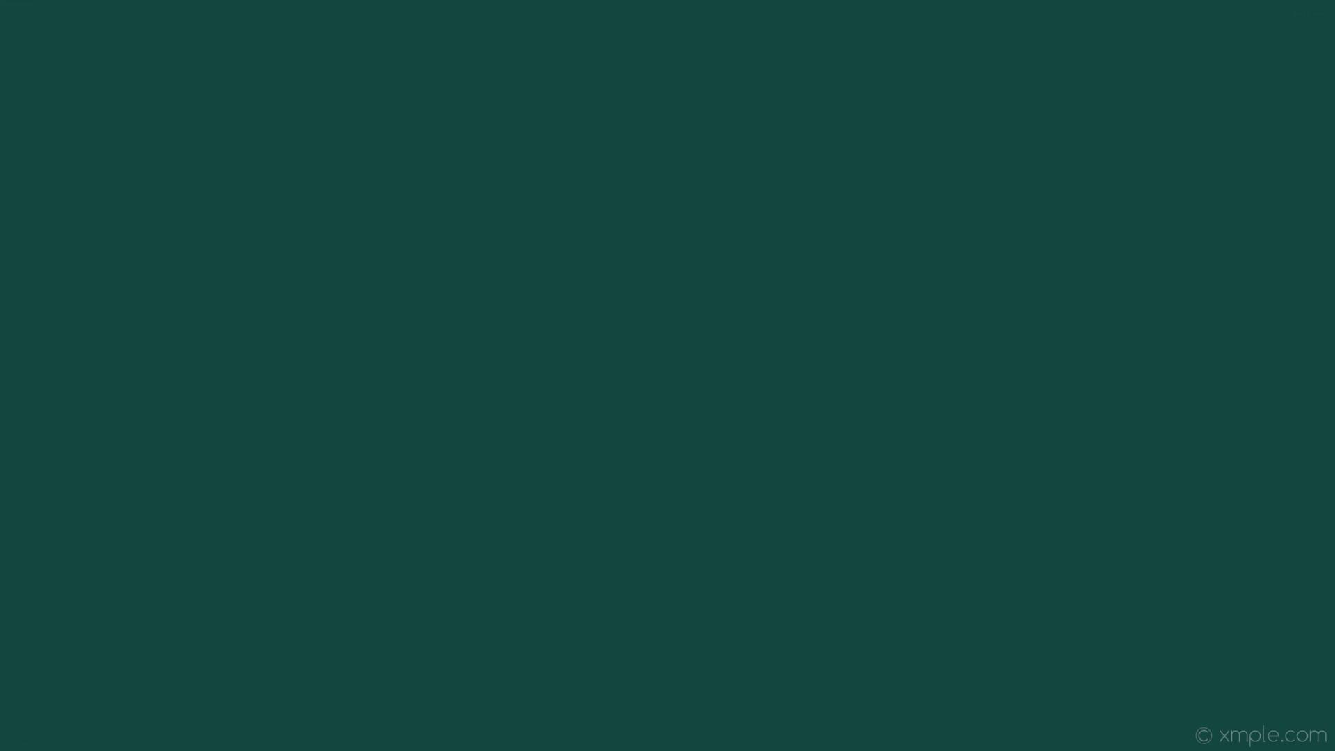 wallpaper solid color plain one colour cyan single dark cyan #12463f