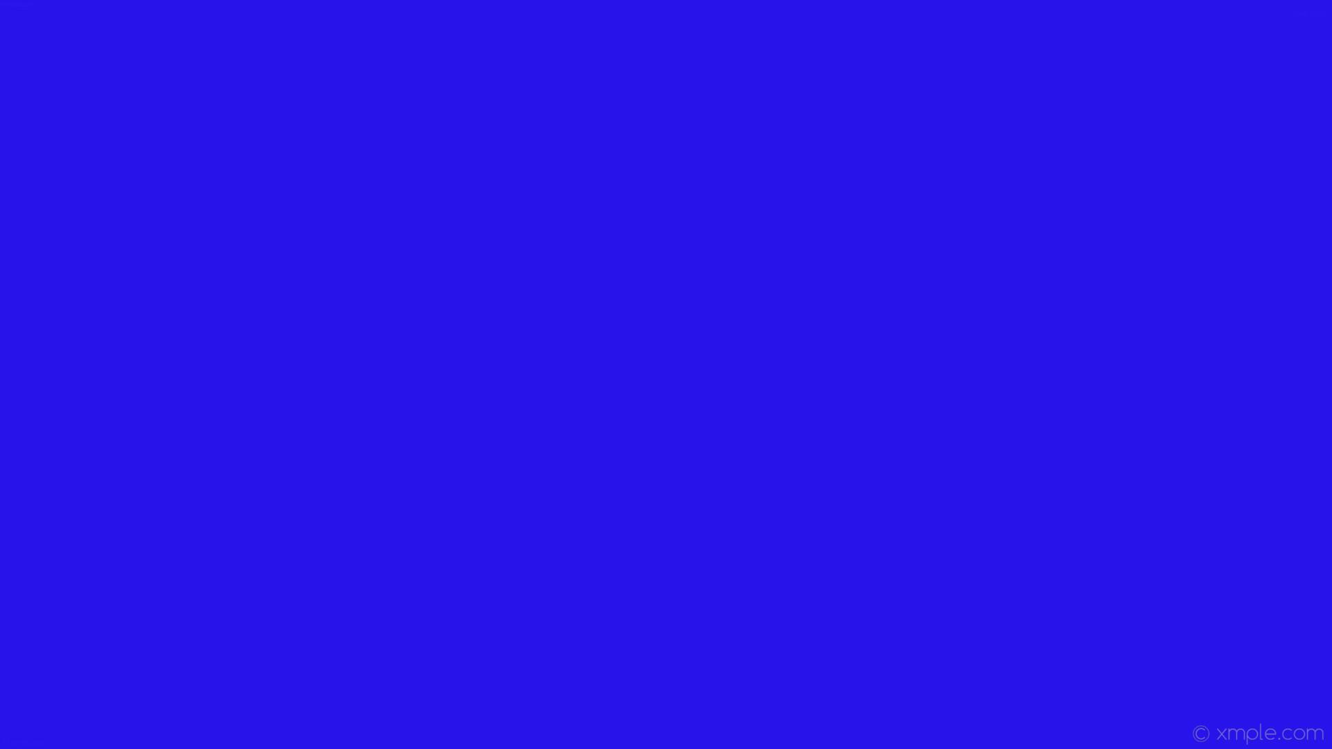 wallpaper blue single plain solid color one colour #2913eb